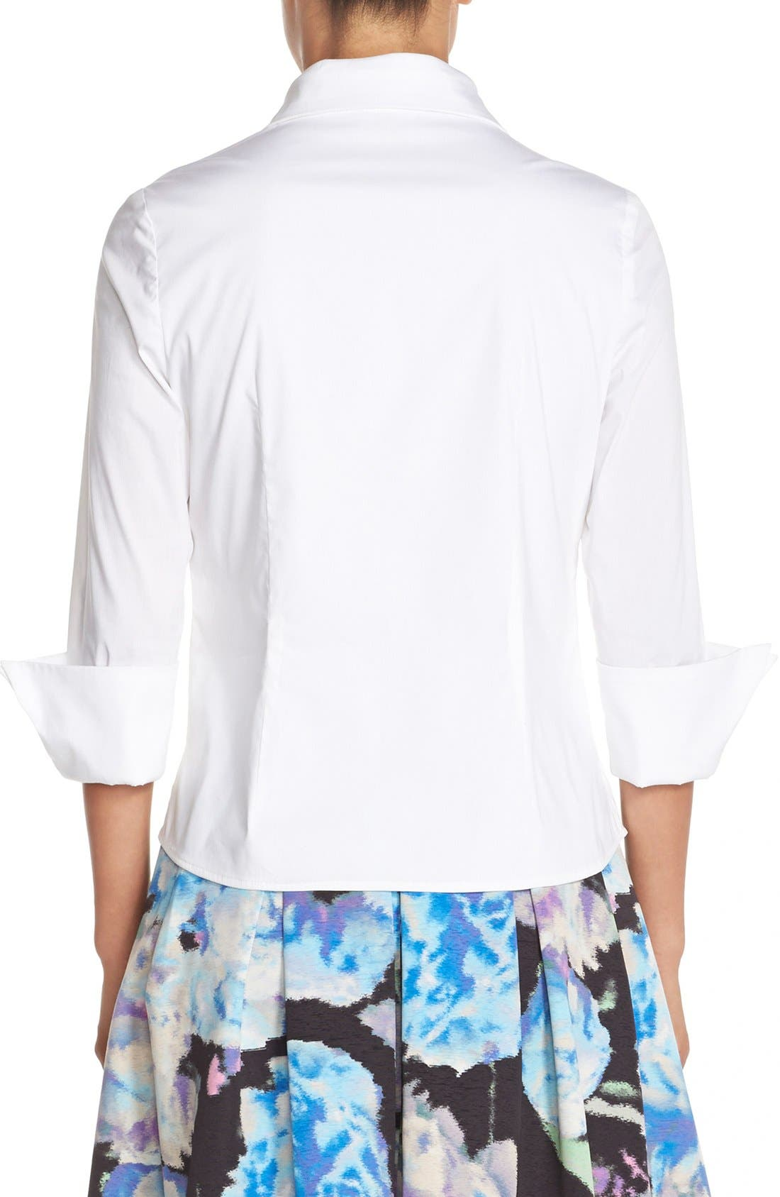 Alternate Image 3  - Eliza J Cotton Poplin Blouse