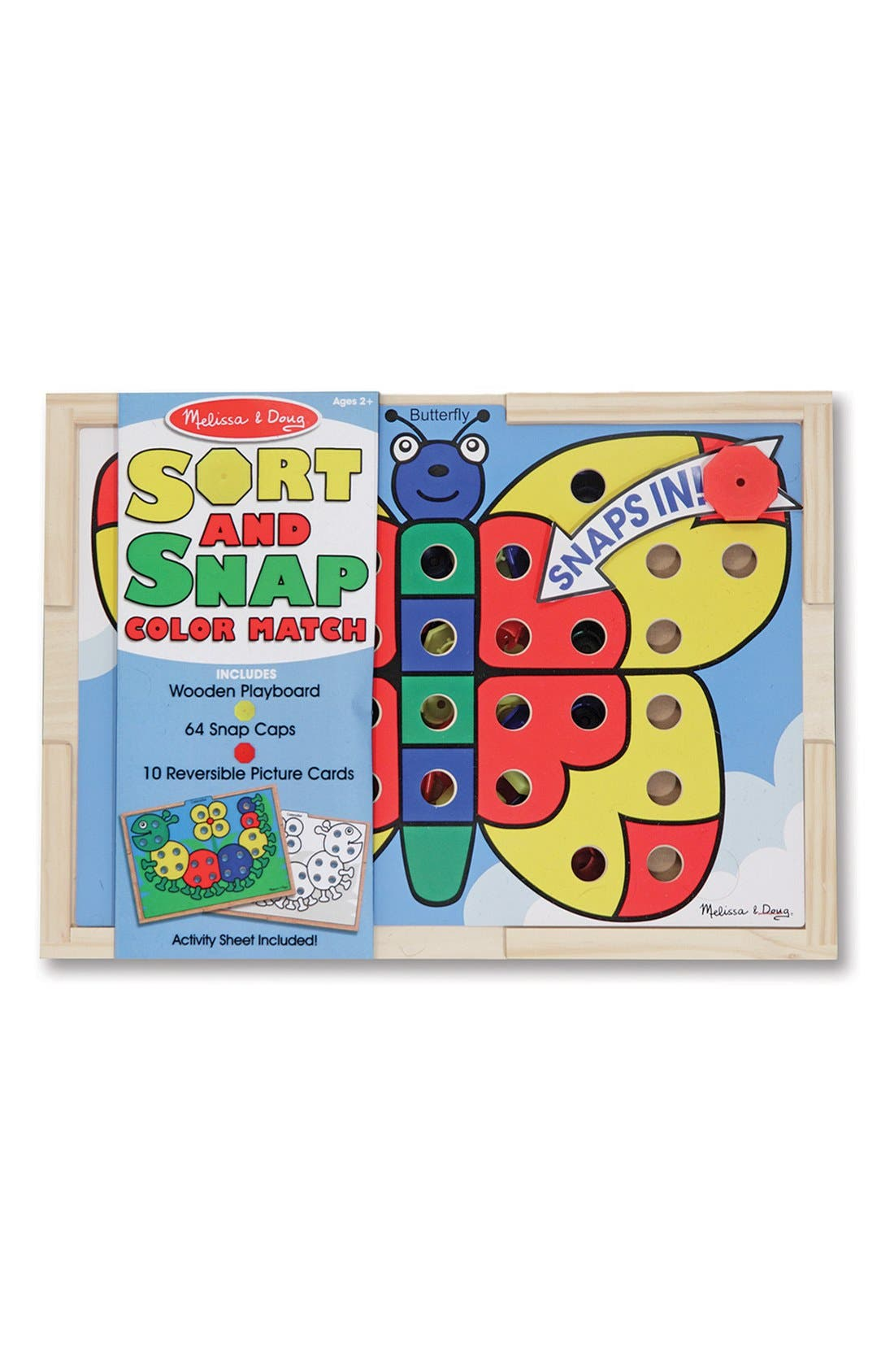 Sort & Snap Color Match Activity Board,                             Alternate thumbnail 2, color,                             Brown