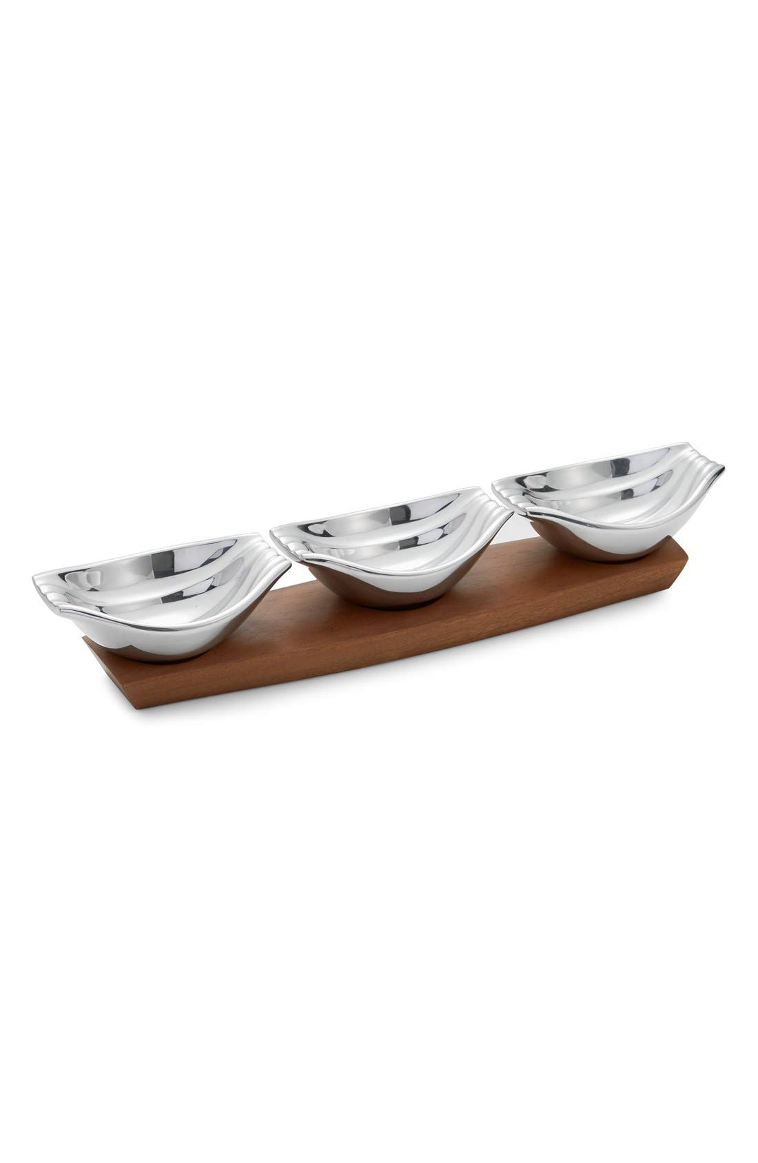 'Drift' Condiment Server,                             Alternate thumbnail 3, color,                             Silver