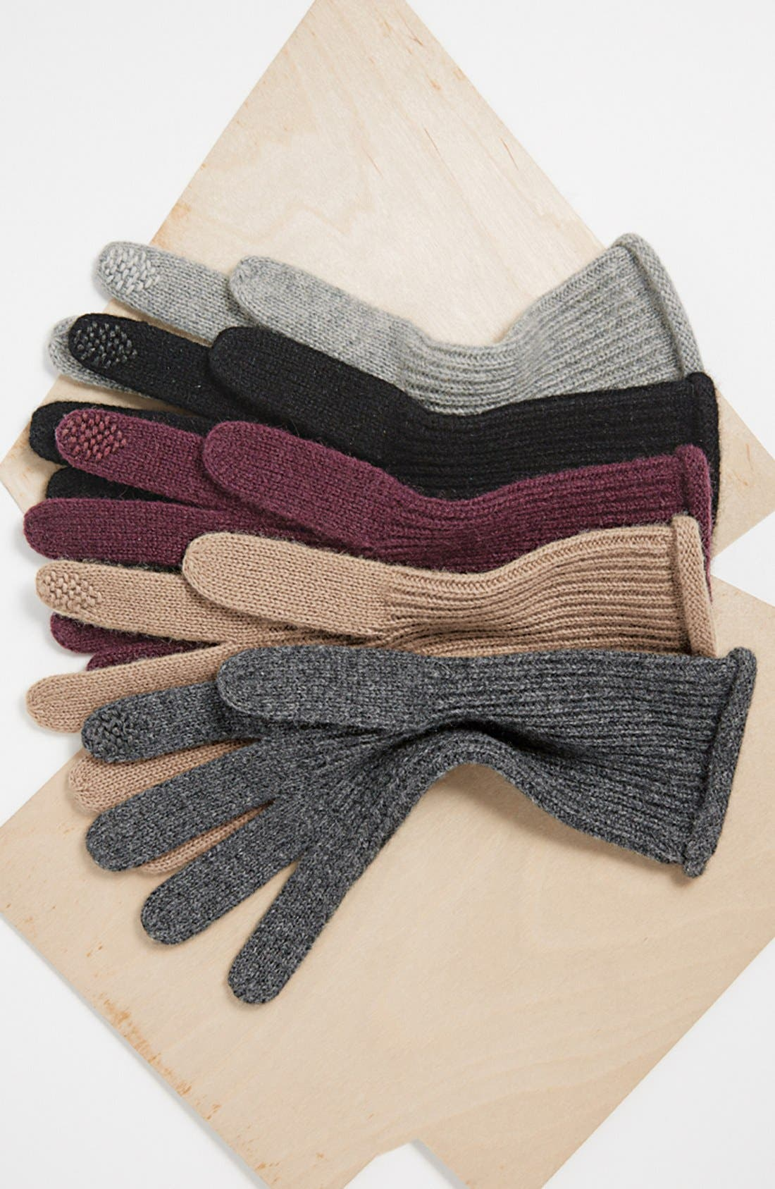 Halogen<sup>®</sup> 'Touch Tech' Cashmere Gloves,                             Alternate thumbnail 3, color,