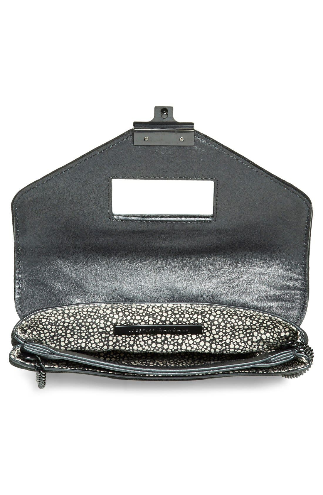 Alternate Image 4  - Loeffler Randall 'Junior Lock' Leather Clutch