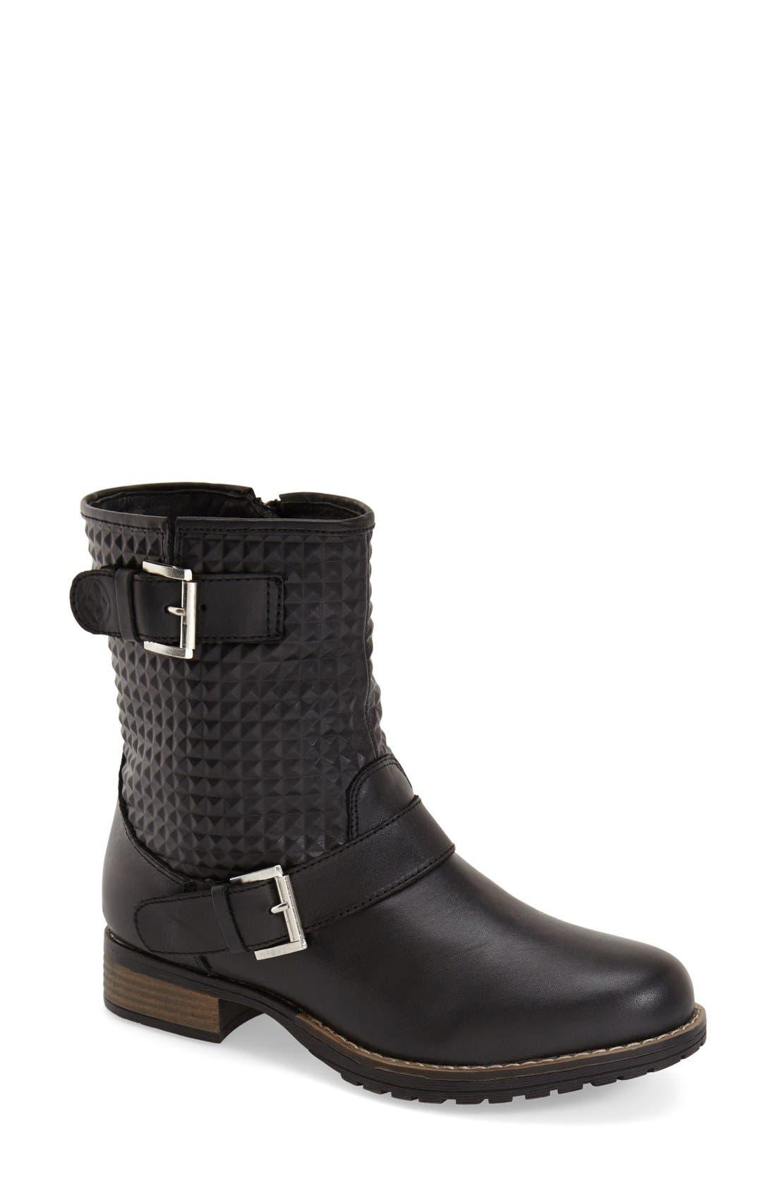 'Granada' Waterproof Pyramid Studded Boot,                         Main,                         color, Black