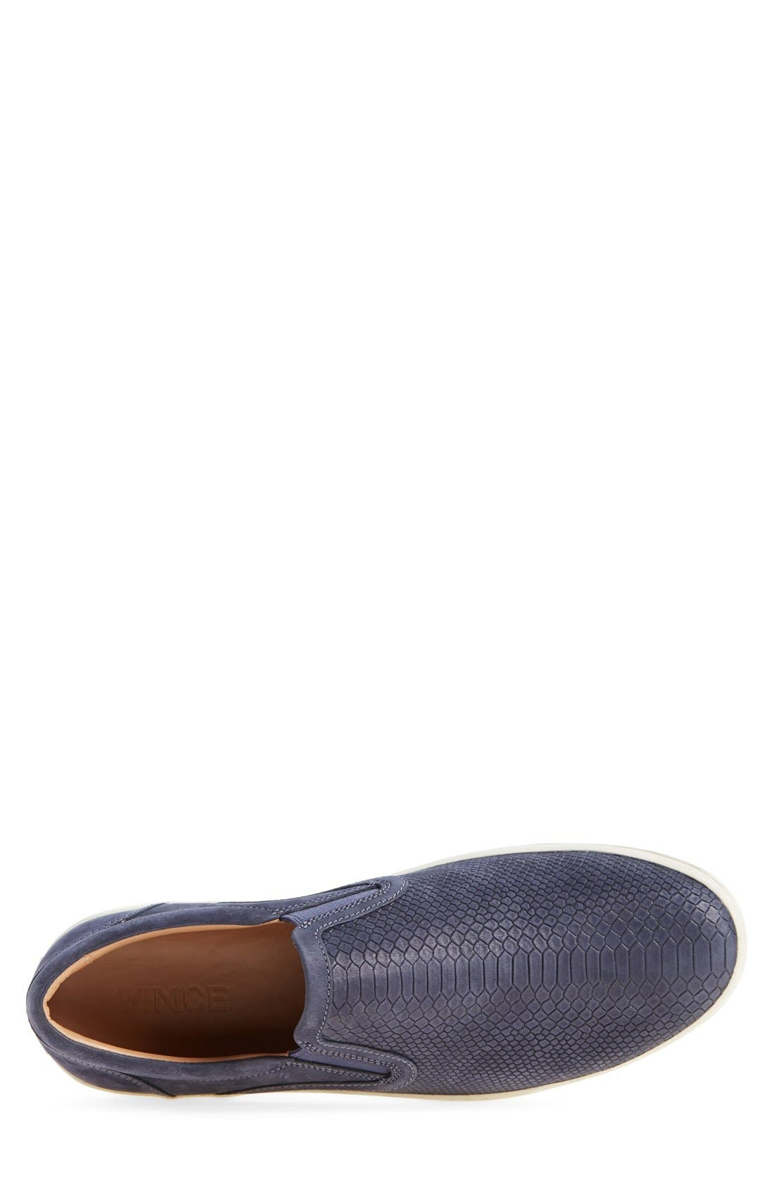 'Ace' Slip-On,                             Alternate thumbnail 3, color,                             Navy Leather