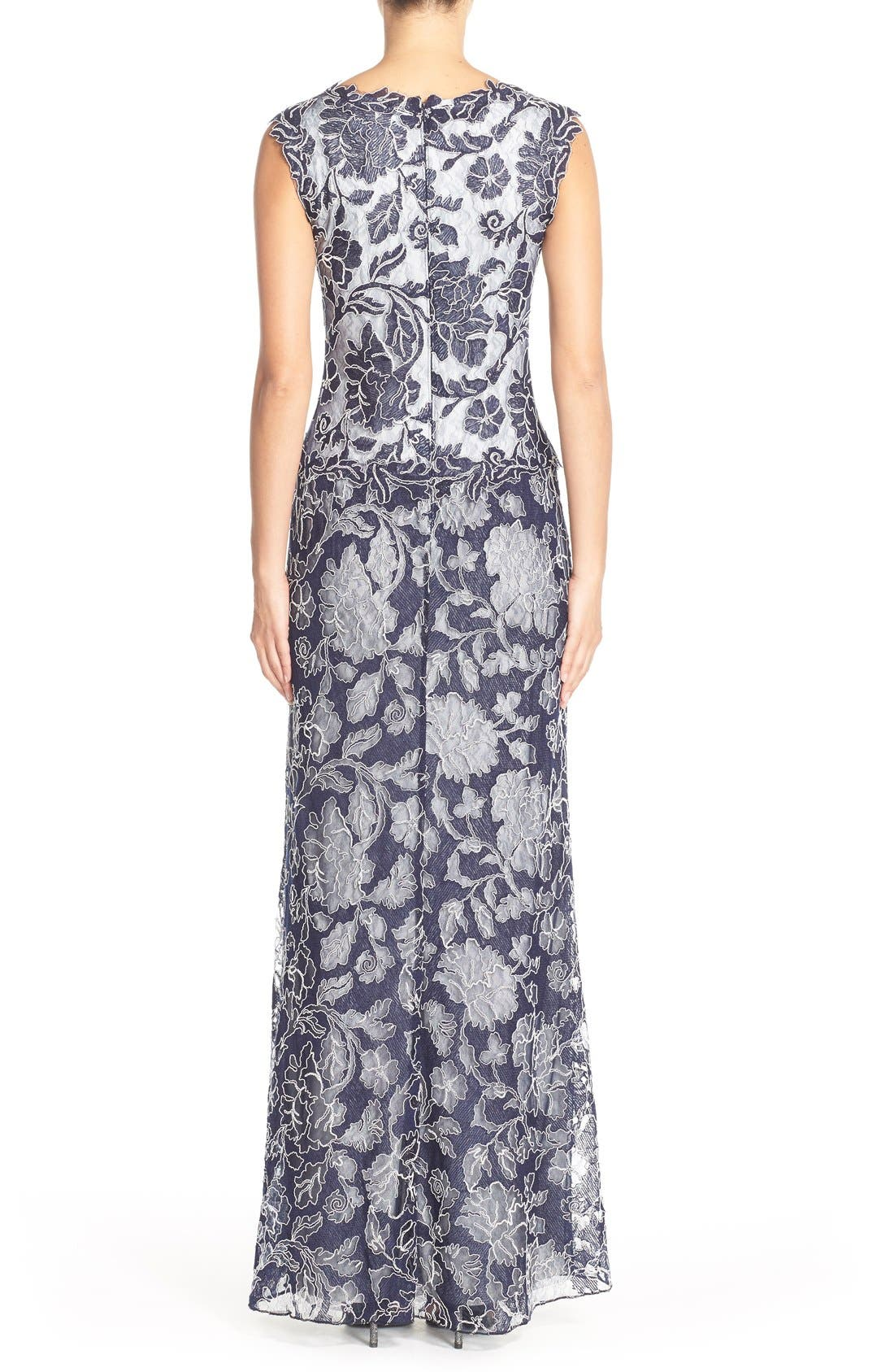 Alternate Image 2  - Tadashi Shoji Embroidered Lace Gown