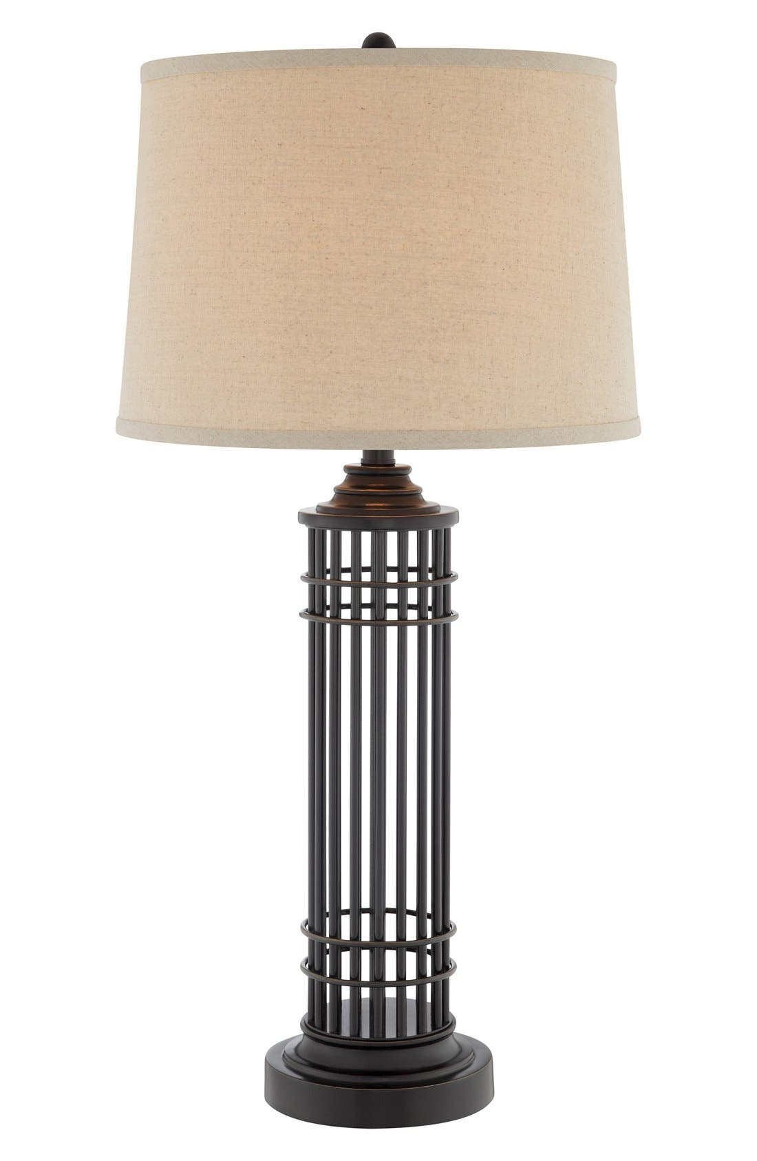 JAlexander Lighting Open Cage Metal Table Lamp
