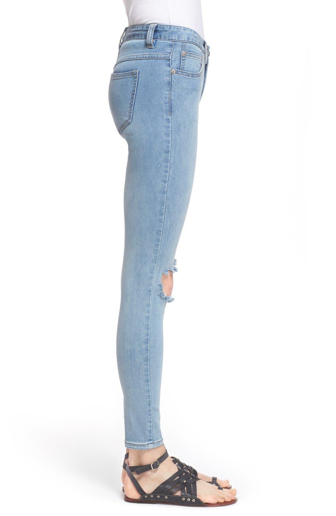 Alternate Image 3  - Free People Destroyed Skinny Jeans