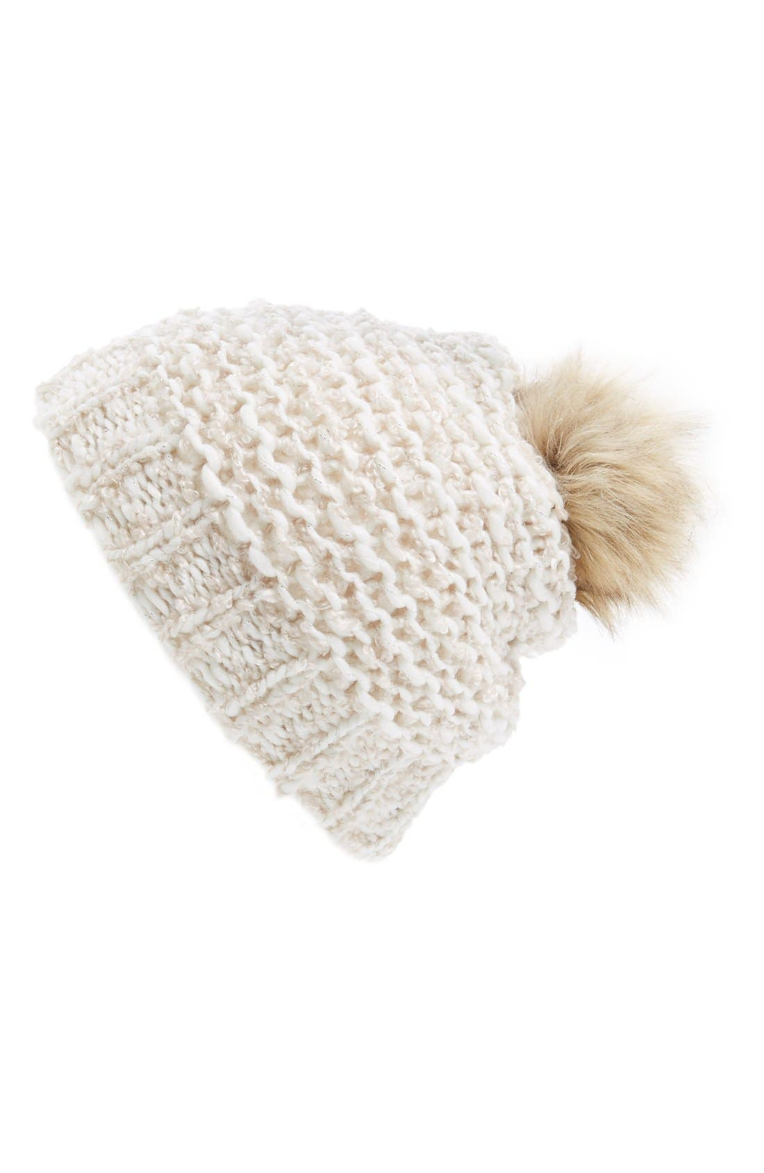 Alternate Image 1 Selected - Hinge Knit Pompom Beanie
