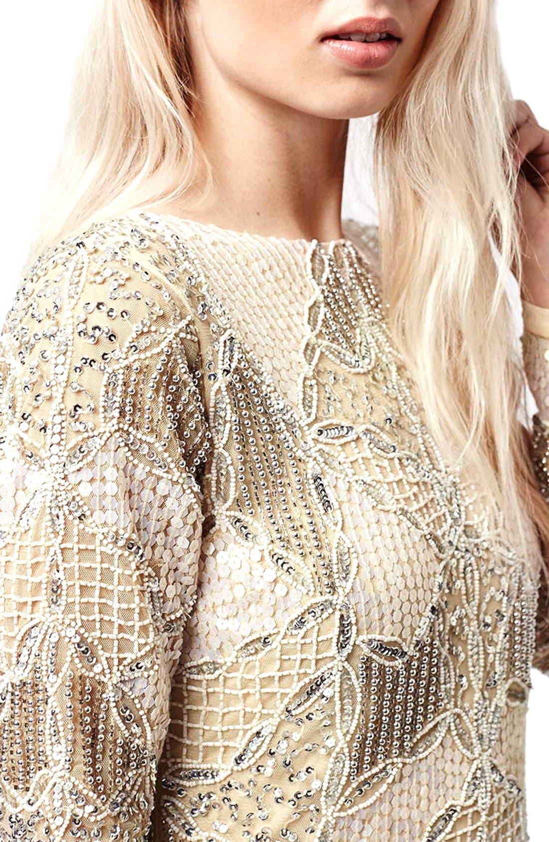Alternate Image 4  - Topshop 'Gigi' Embellished Body-Con Dress (Regular & Petite)