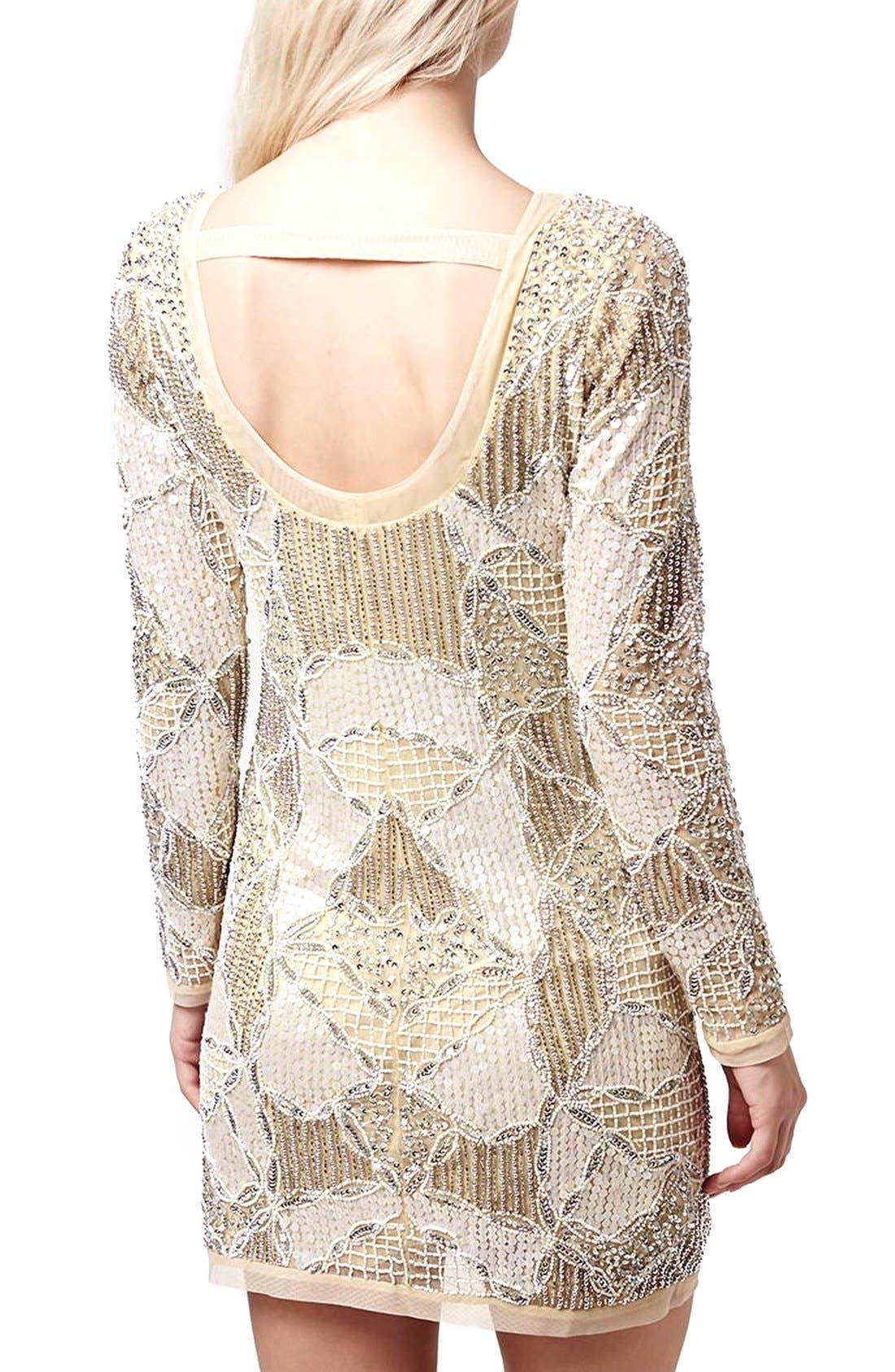 Alternate Image 3  - Topshop 'Gigi' Embellished Body-Con Dress (Regular & Petite)