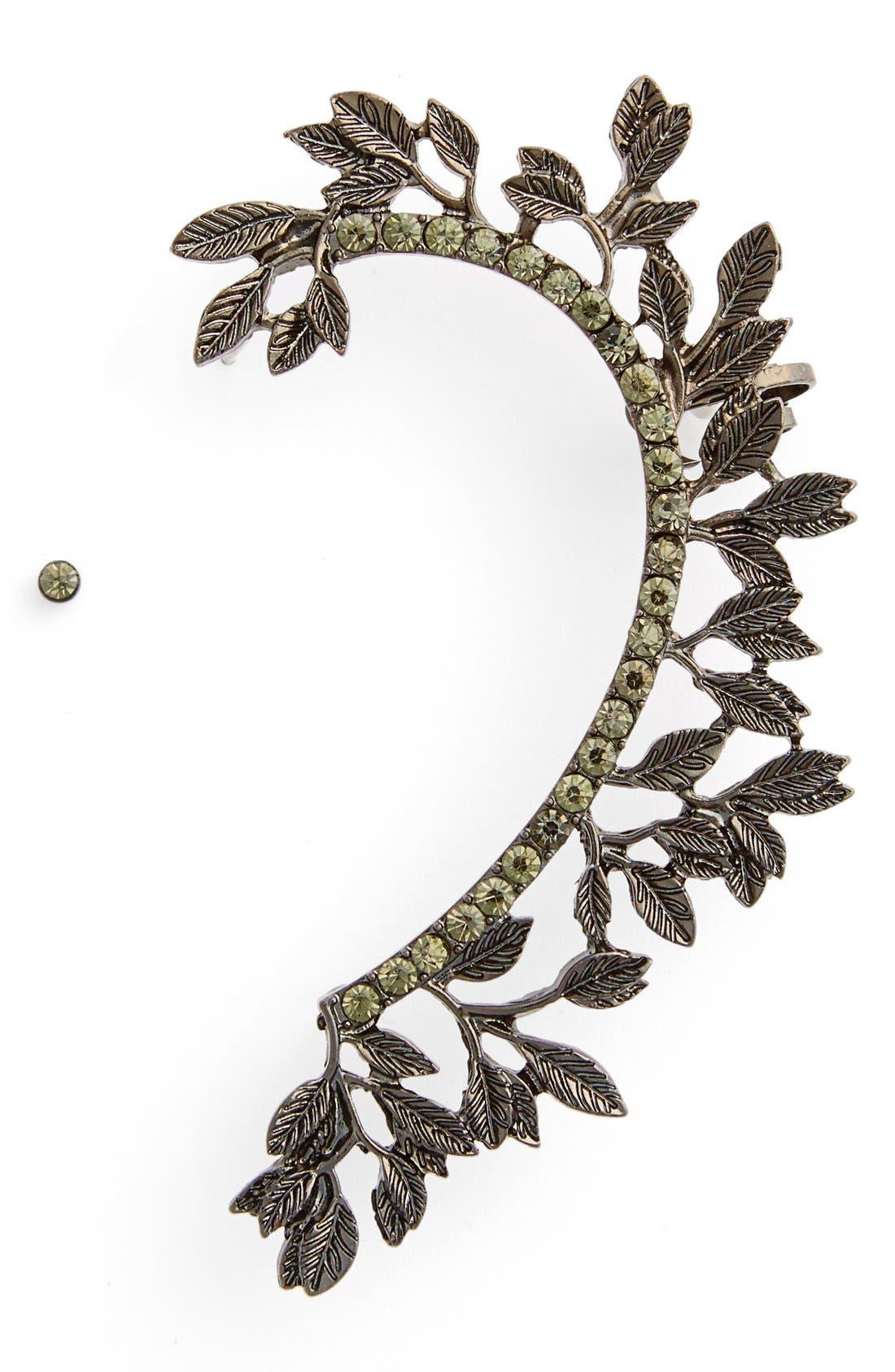 Main Image - Leith Crystal Leaf Ear Cuff
