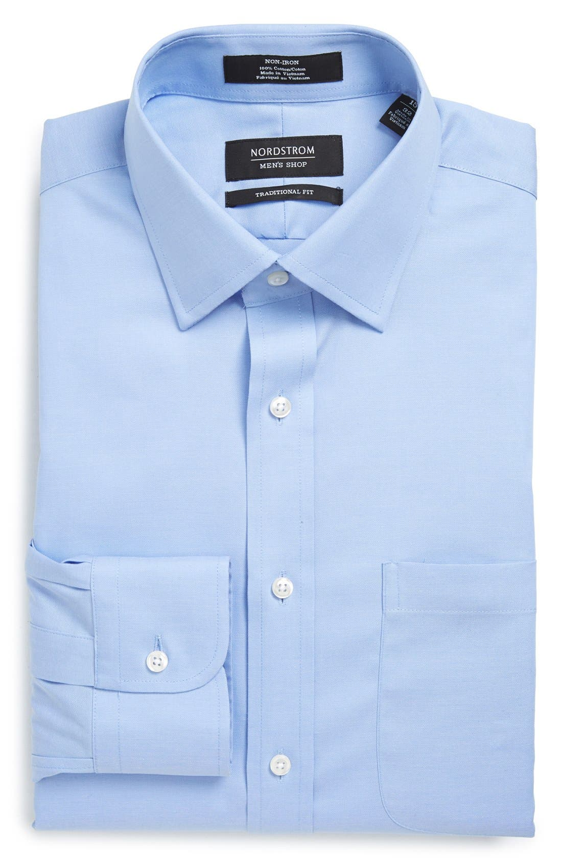 Main Image - Nordstrom Men's Shop Traditional Fit Non-Iron Solid Dress Shirt
