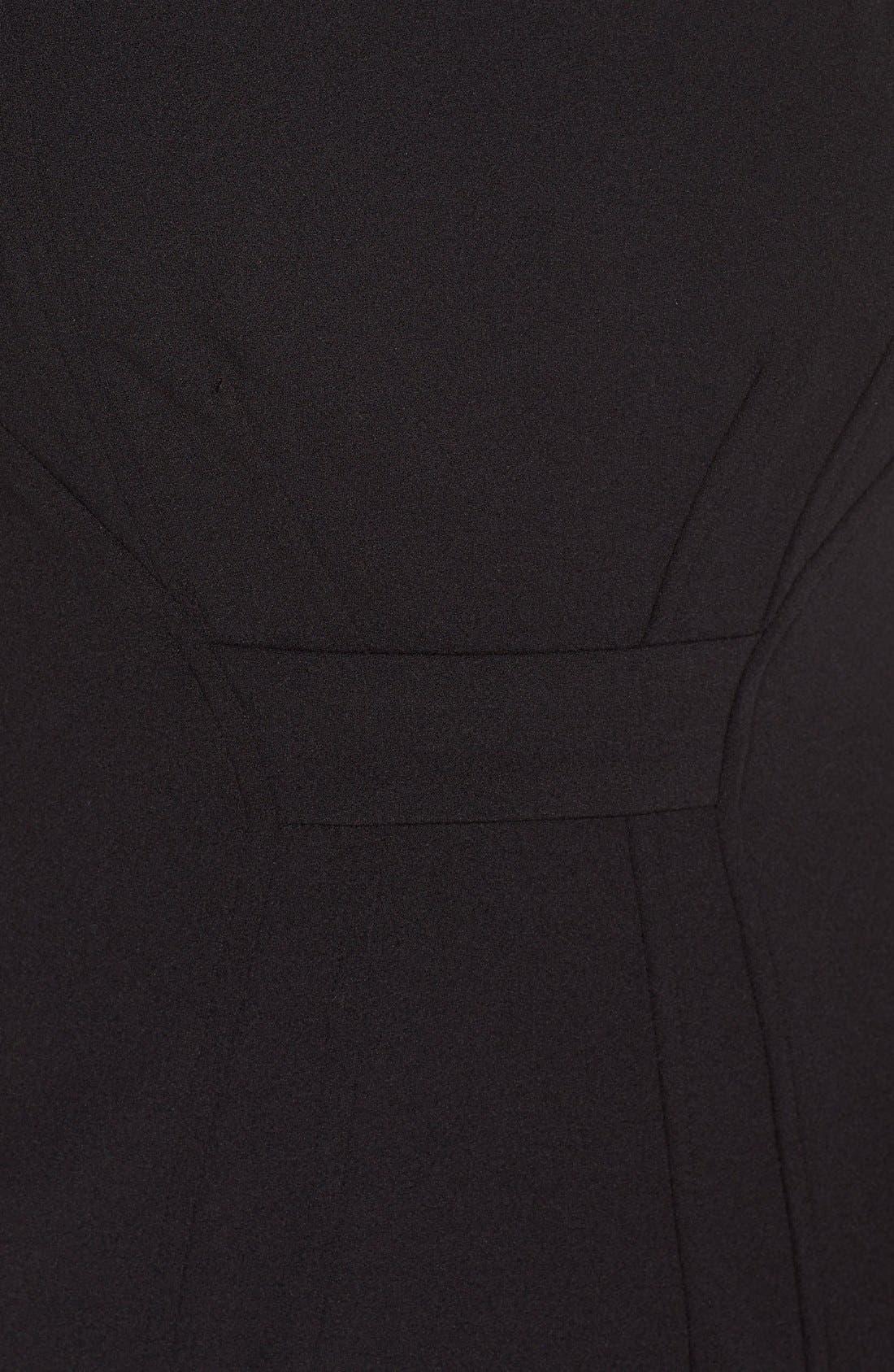 Alternate Image 5  - NYDJ Cutout Shoulder Crepe Sheath Dress