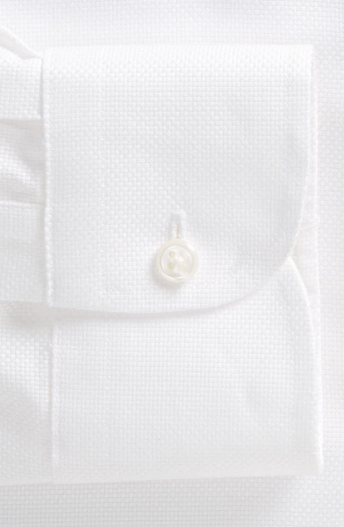 Smartcare<sup>™</sup> Traditional Fit Solid Dress Shirt,                             Alternate thumbnail 2, color,                             White