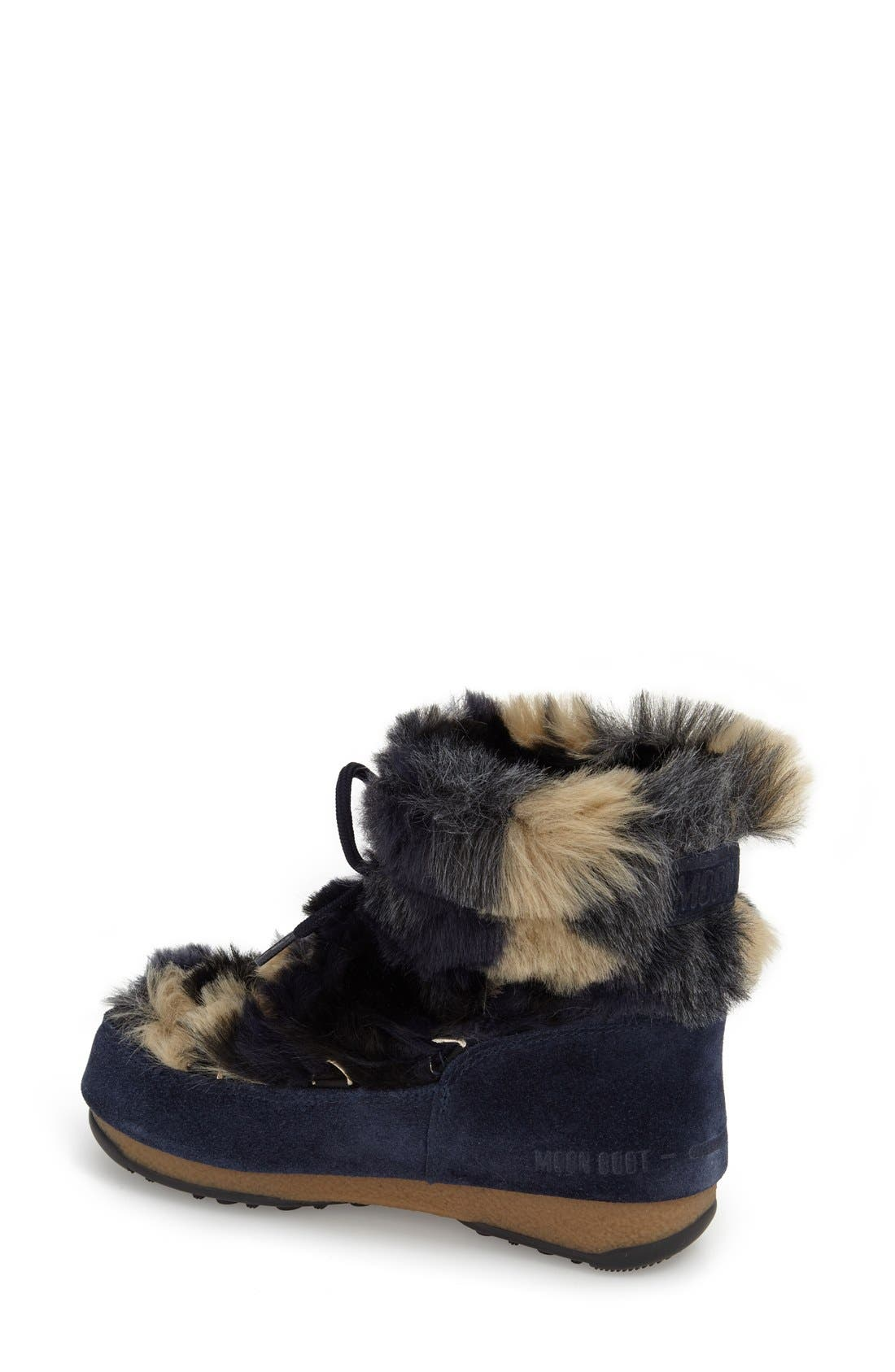 Alternate Image 2  - Tecnica® Camo Flip Paillette Water Resistant Insulated Moon Boot® with Faux Fur Lining (Women)
