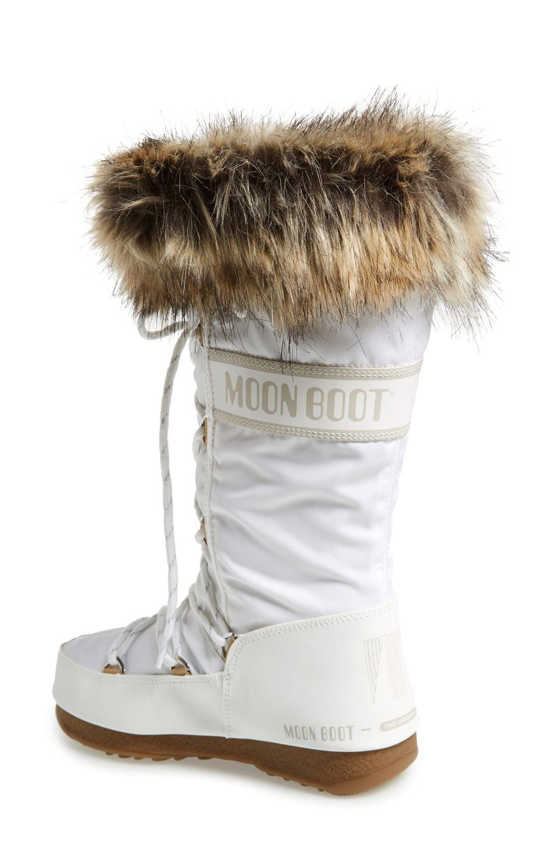 'Monaco' Waterproof Insulated Moon Boot<sup>®</sup>,                             Alternate thumbnail 2, color,                             White