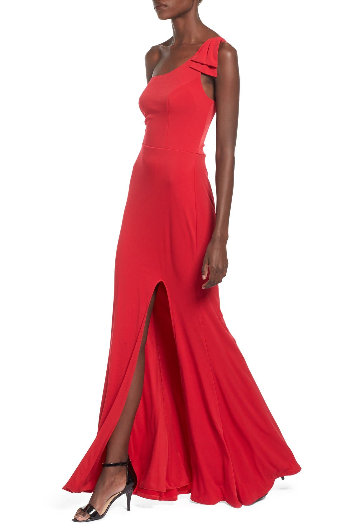 Alternate Image 4  - Way-In 'Kelly' One-Shoulder Gown