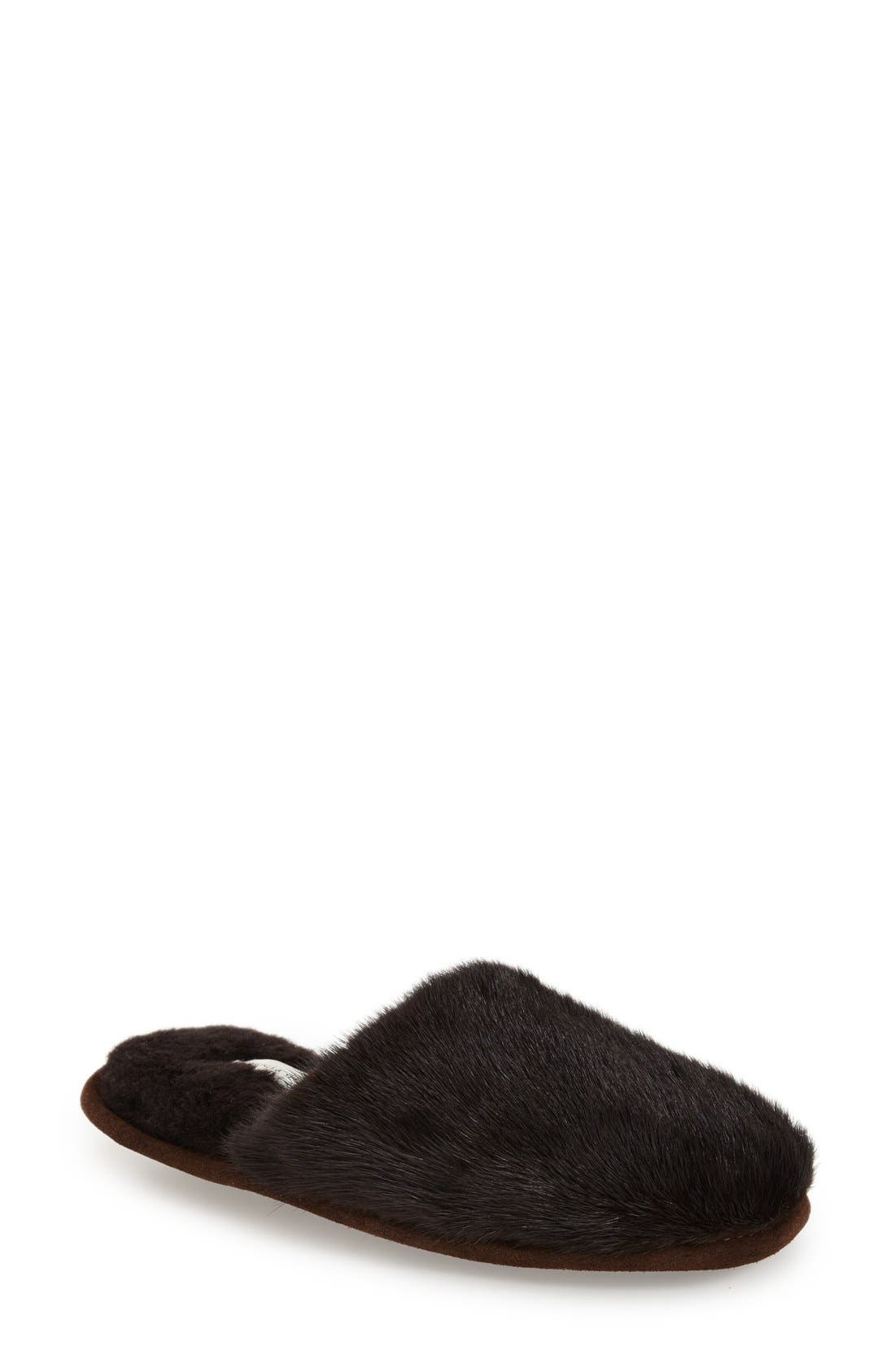 patricia green 'Whistler' Genuine Mink Fur Slipper (Women)