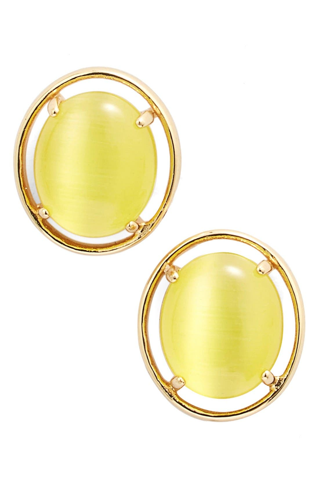 Alternate Image 1 Selected - kate spade new york open rim stud earrings