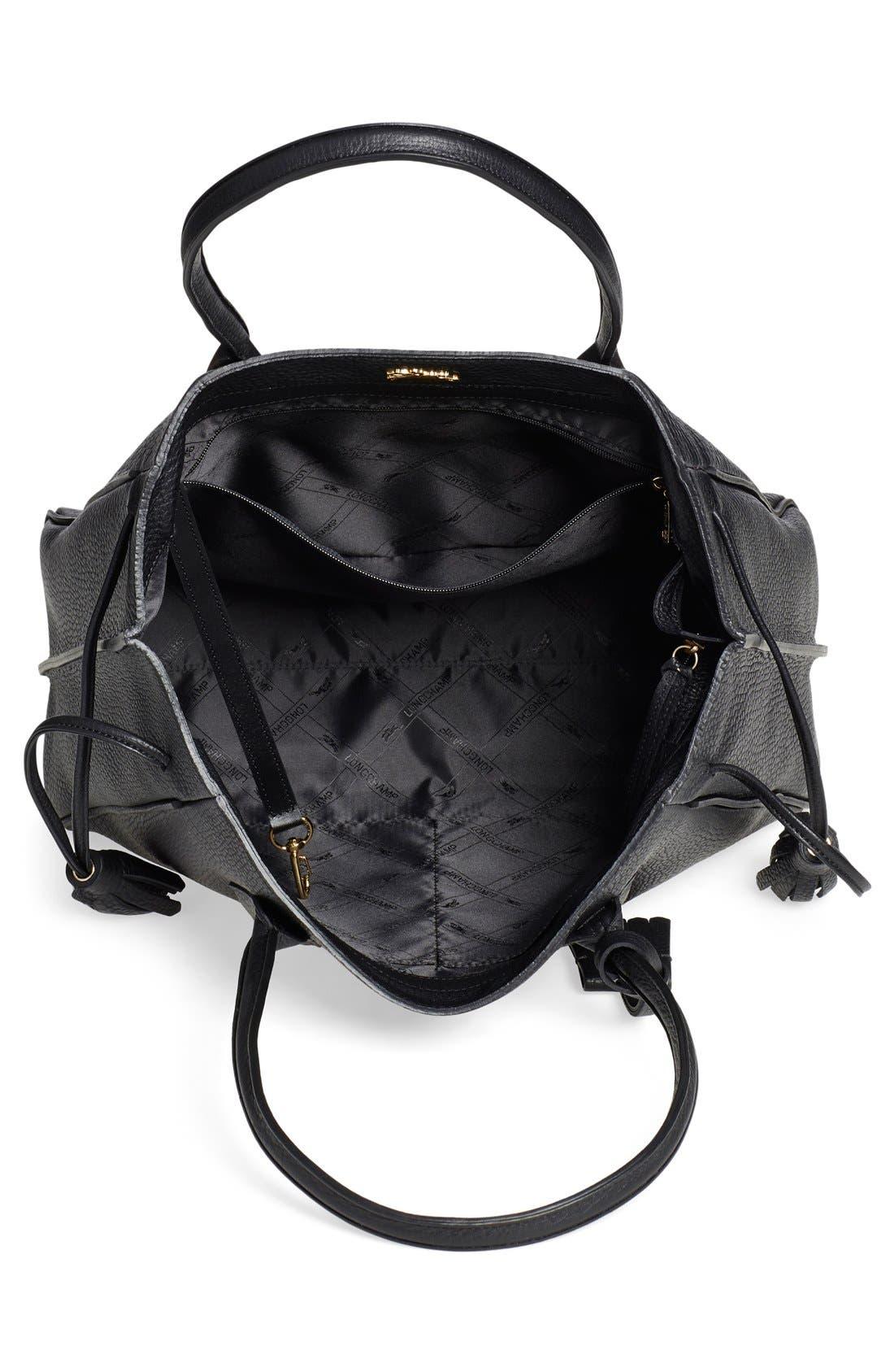 Alternate Image 4  - Longchamp 'Penelope' Tassel Drawstring Leather Tote
