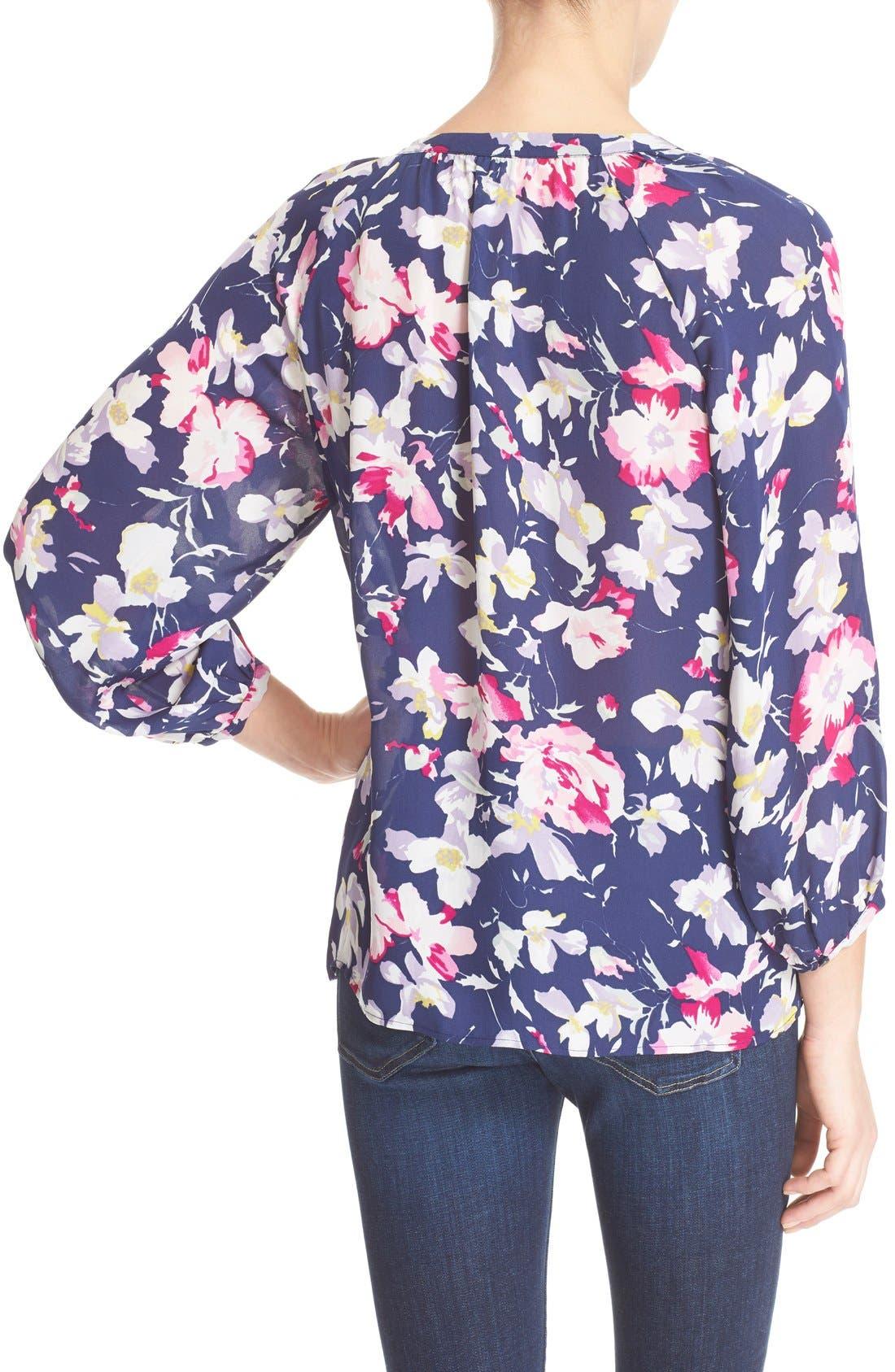 Alternate Image 2  - Joie 'McKenna' Floral Print Silk Blouse