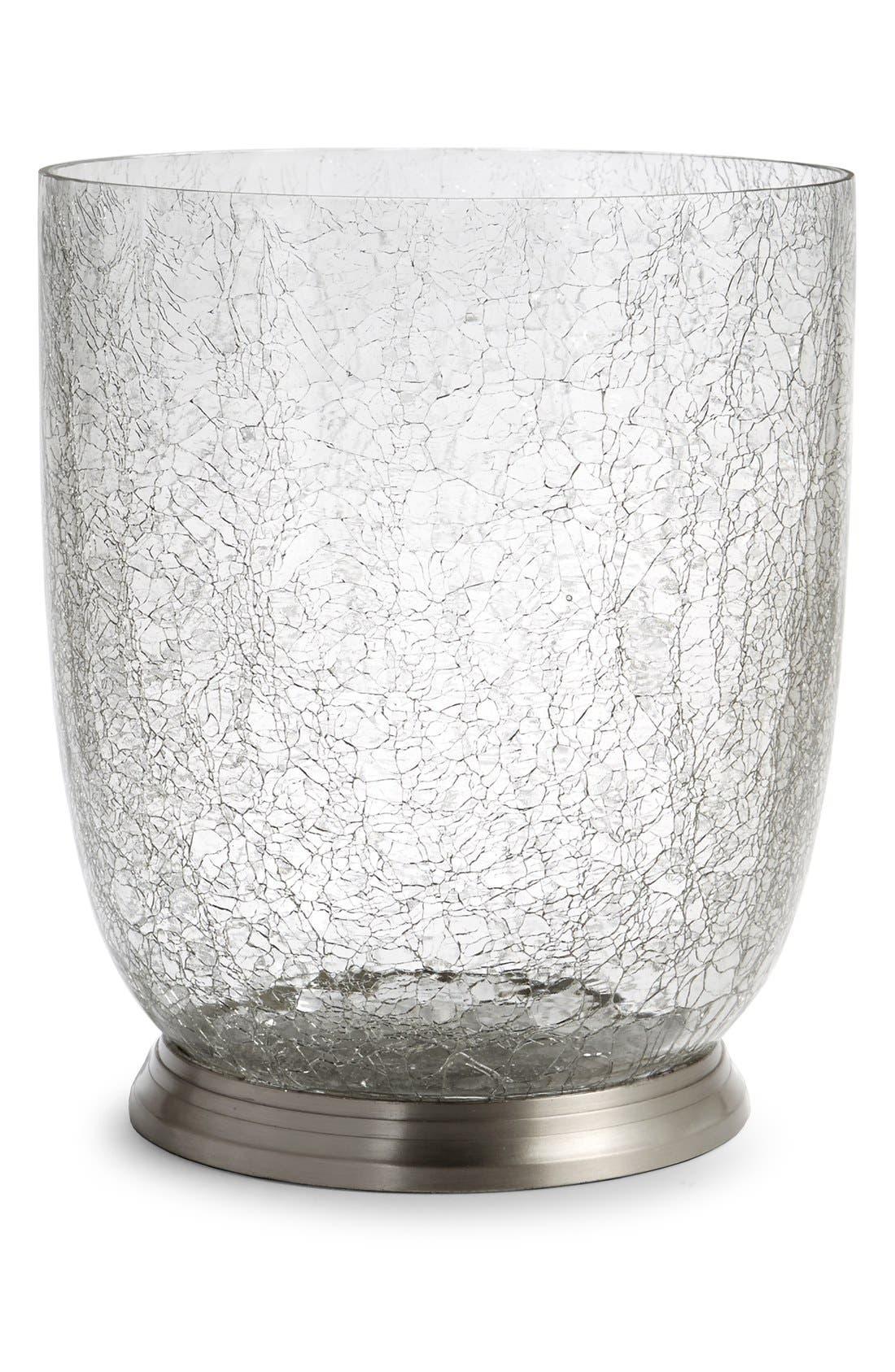 'Heirloom Crackle' Wastebasket,                         Main,                         color, Crackle Glass
