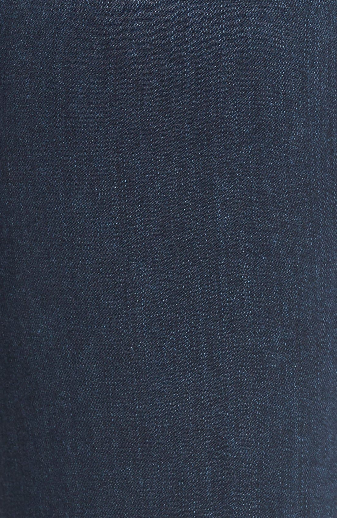 Denim 'Jill' Ultra Skinny Jeans,                             Alternate thumbnail 5, color,                             Reed No Whiskers