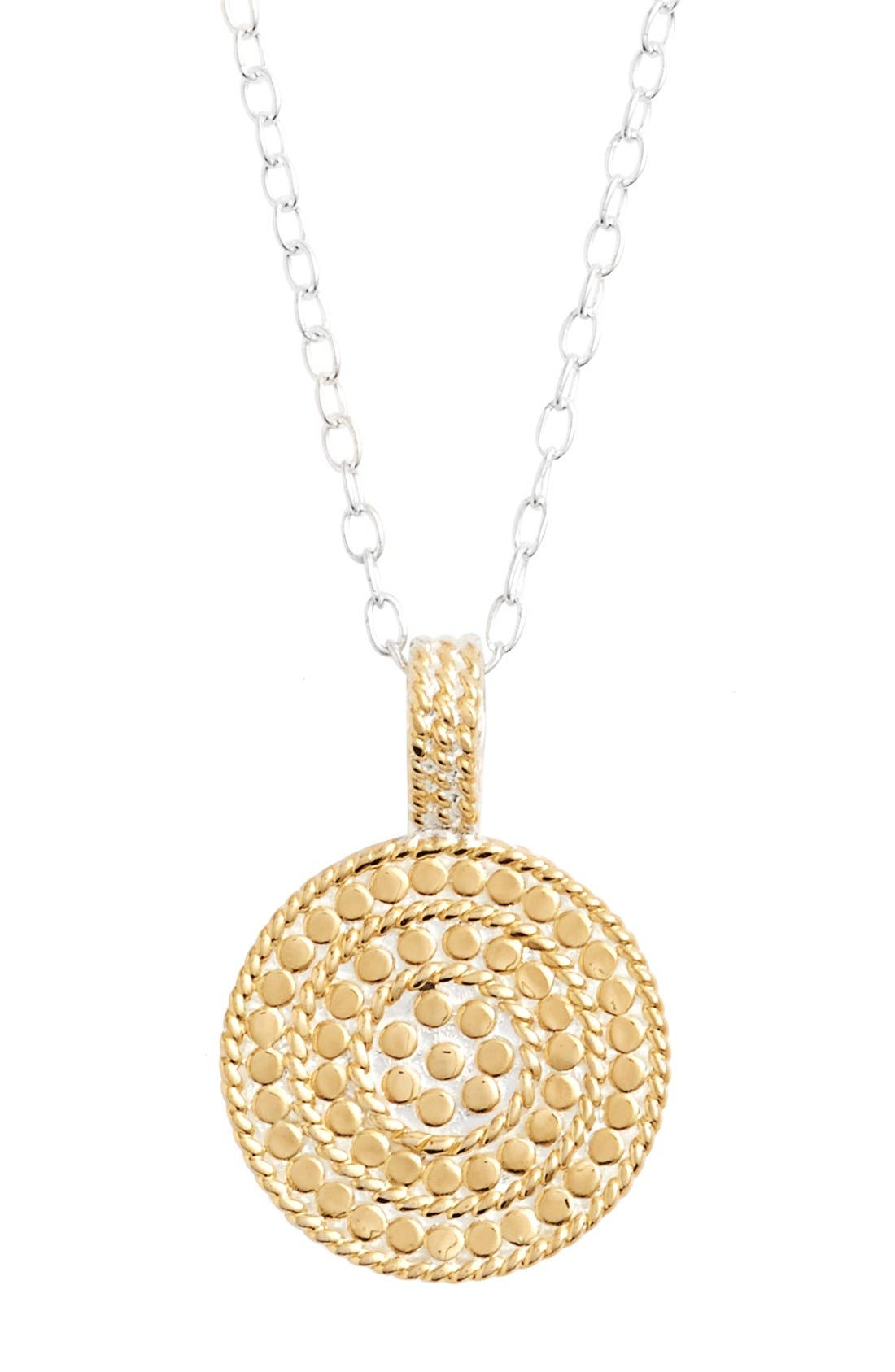 Jewelry That Makes a Difference Circle of Life Pendant Necklace,                         Main,                         color, Gold/ Silver