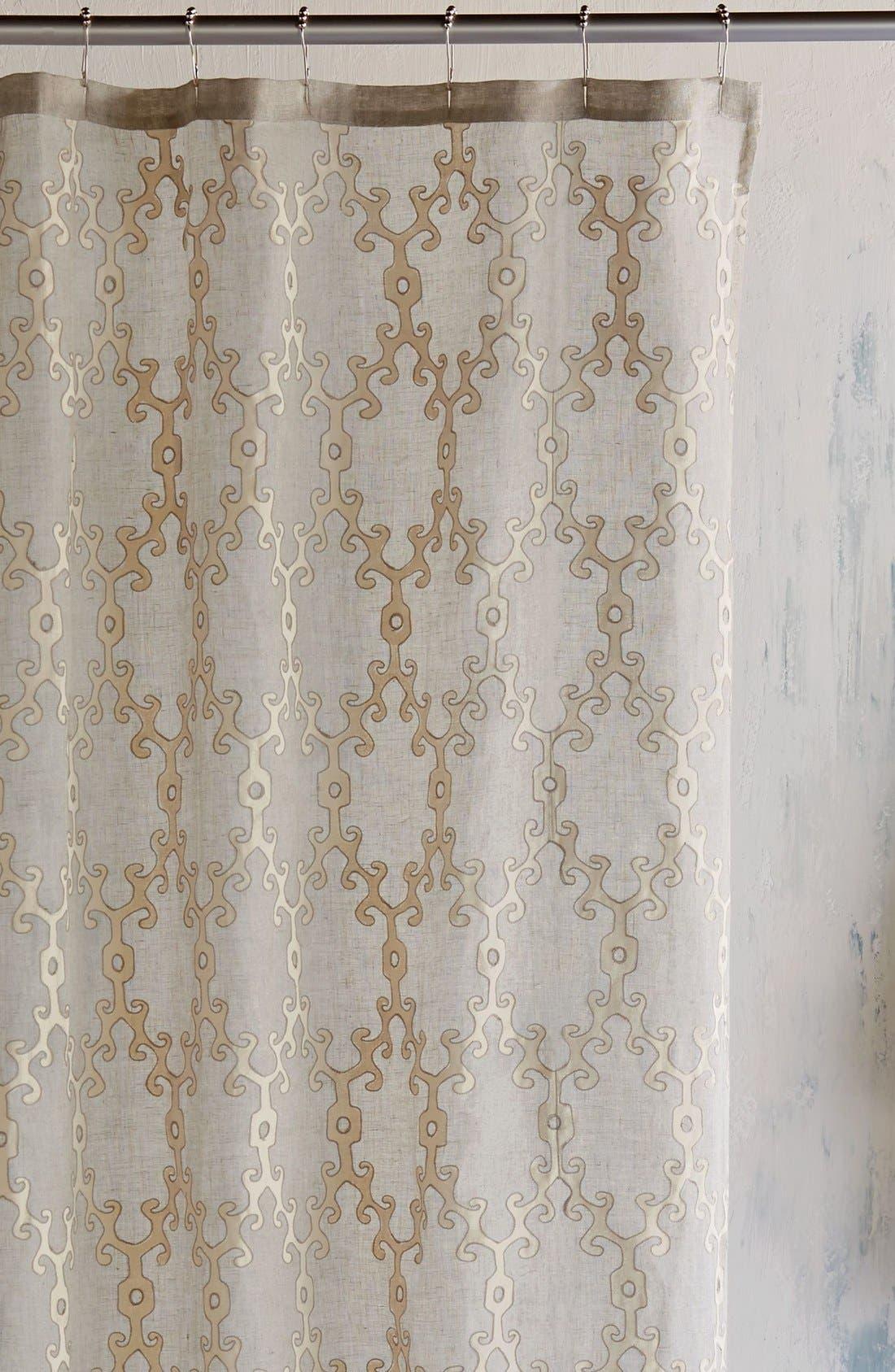 'Totem' Shower Curtain,                             Main thumbnail 1, color,                             Ivory/ Linen