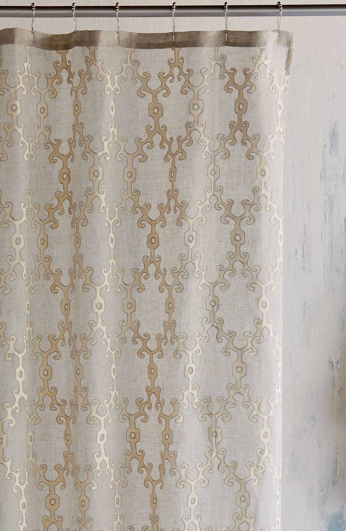 'Totem' Shower Curtain,                         Main,                         color, Ivory/ Linen