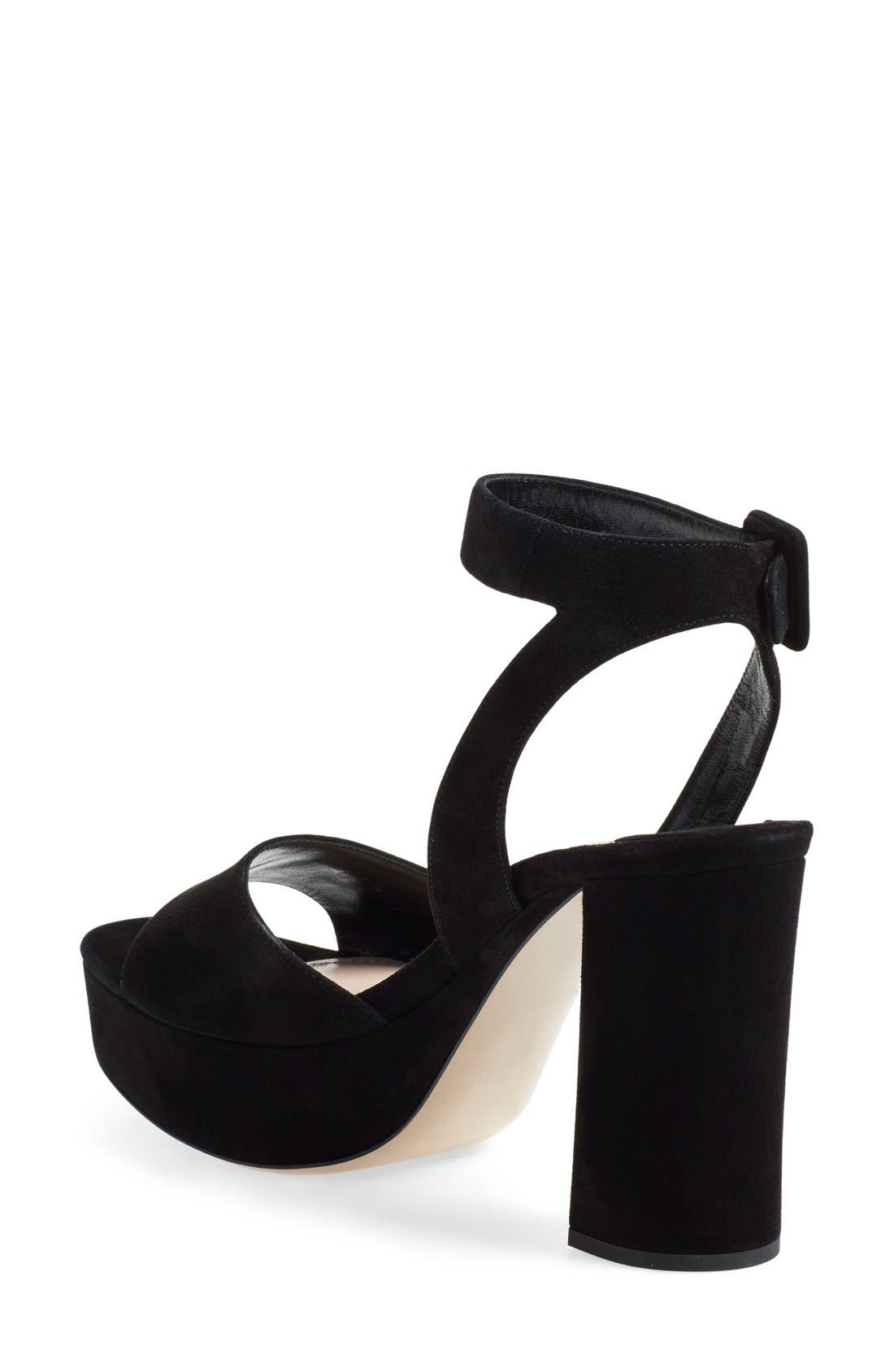 'Sandali' Ankle Strap Sandal,                             Alternate thumbnail 2, color,                             Black