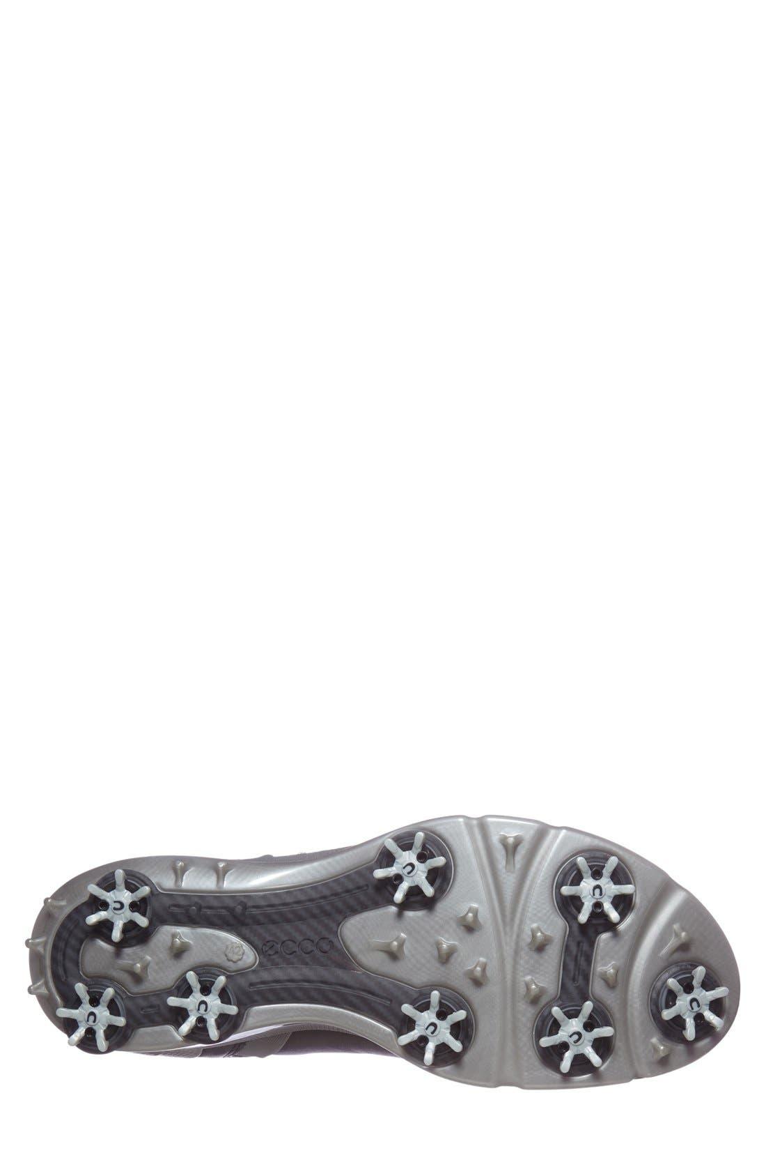 BIOM Hydromax Waterproof Golf Shoe,                             Alternate thumbnail 4, color,                             Black/ Transparent