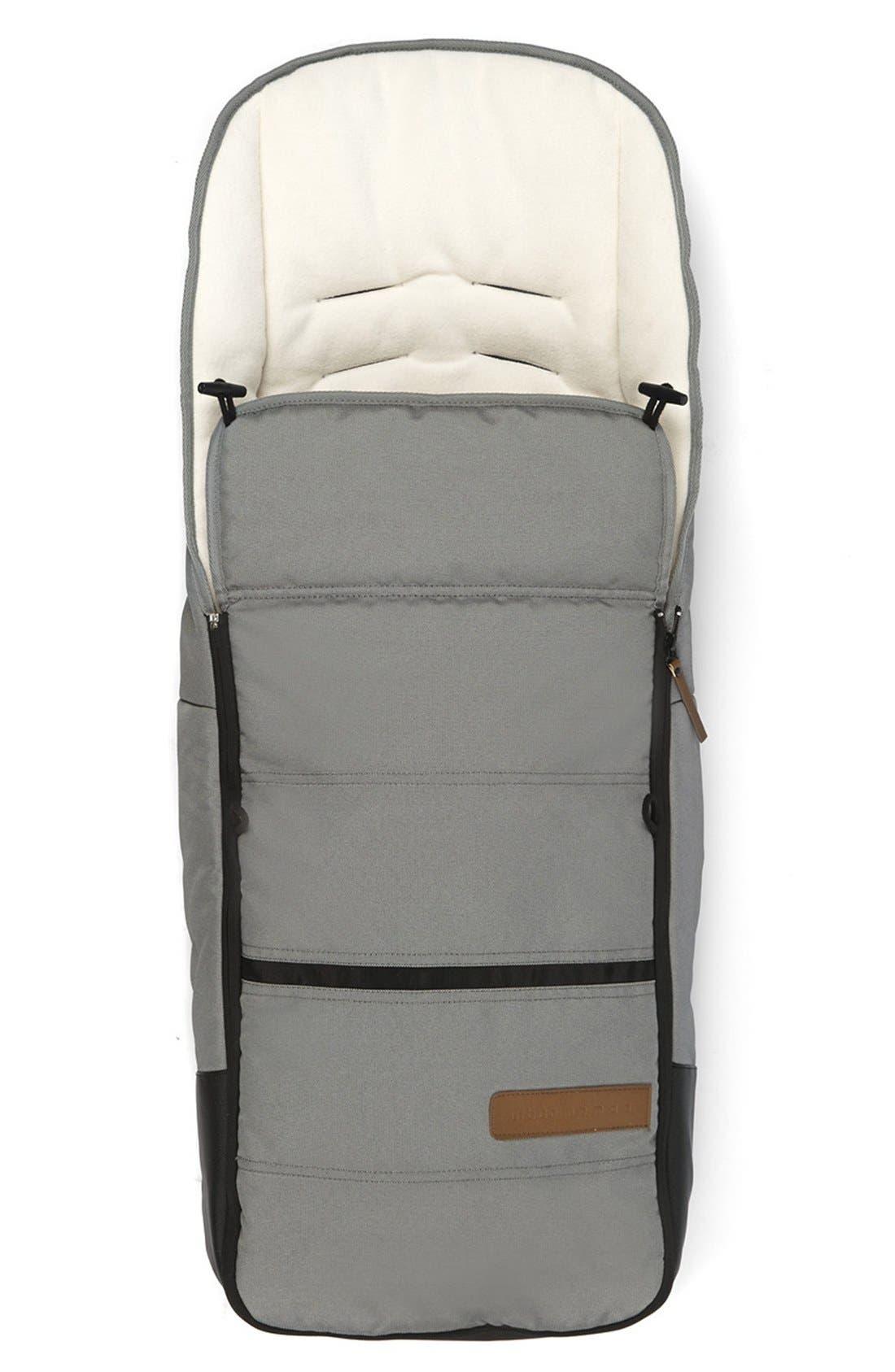 'Evo - Urban Nomad' Water Resistant Footmuff,                             Main thumbnail 1, color,                             Light Grey
