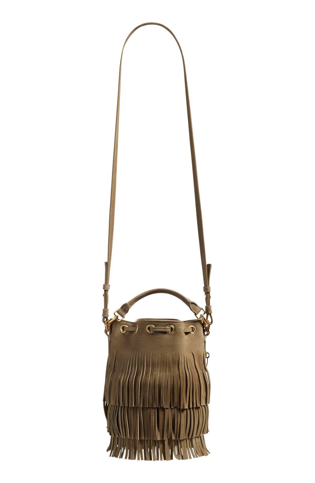 Alternate Image 2  - Saint Laurent 'Emmanuelle' Suede Fringe Bucket Bag