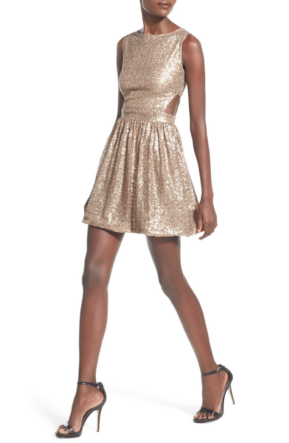 Alternate Image 4  - Raga Sequin Cutout Sleeveless Dress