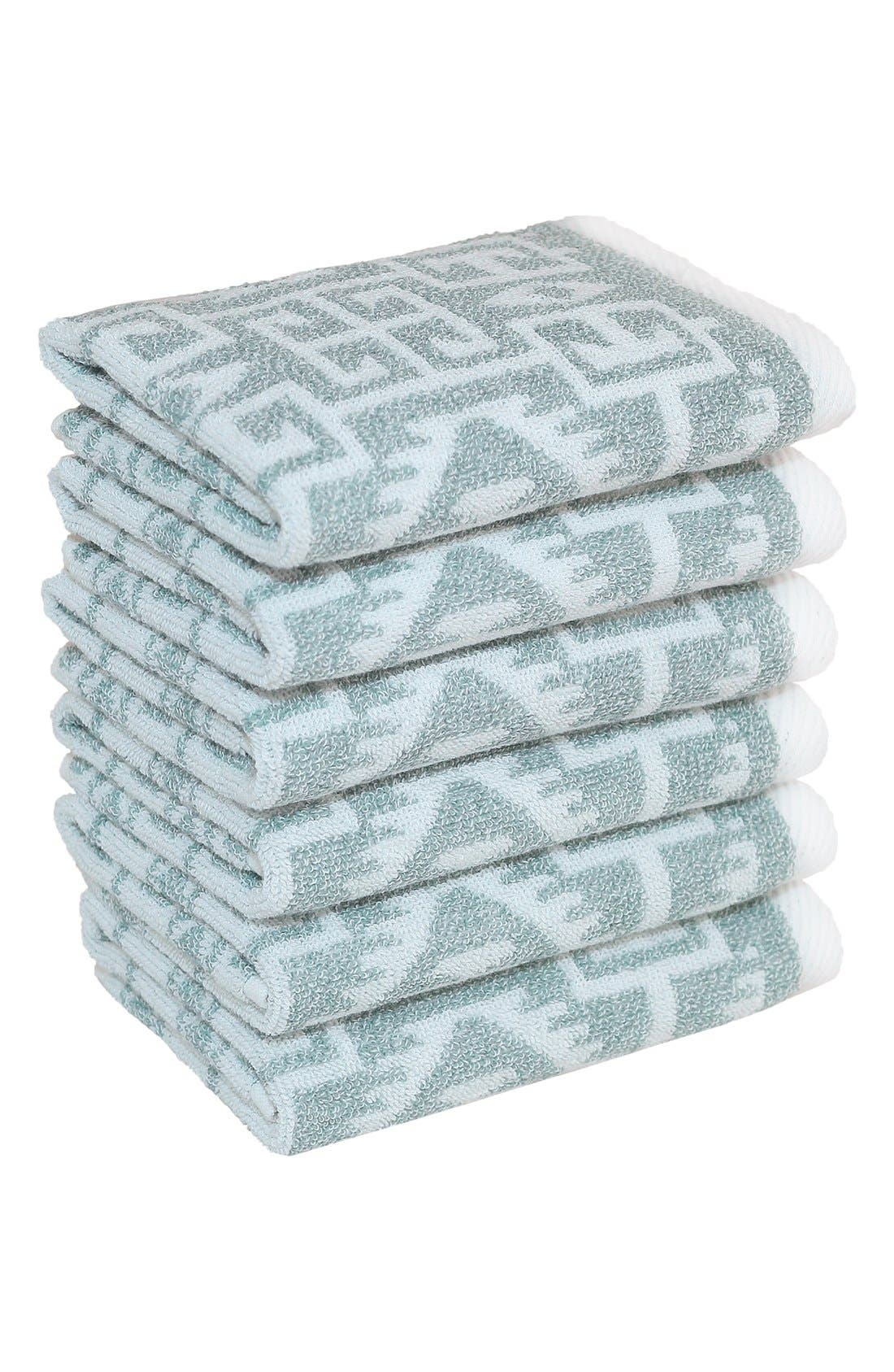 Linum 'Kula' Turkish Cotton Washcloths (Set of 6)