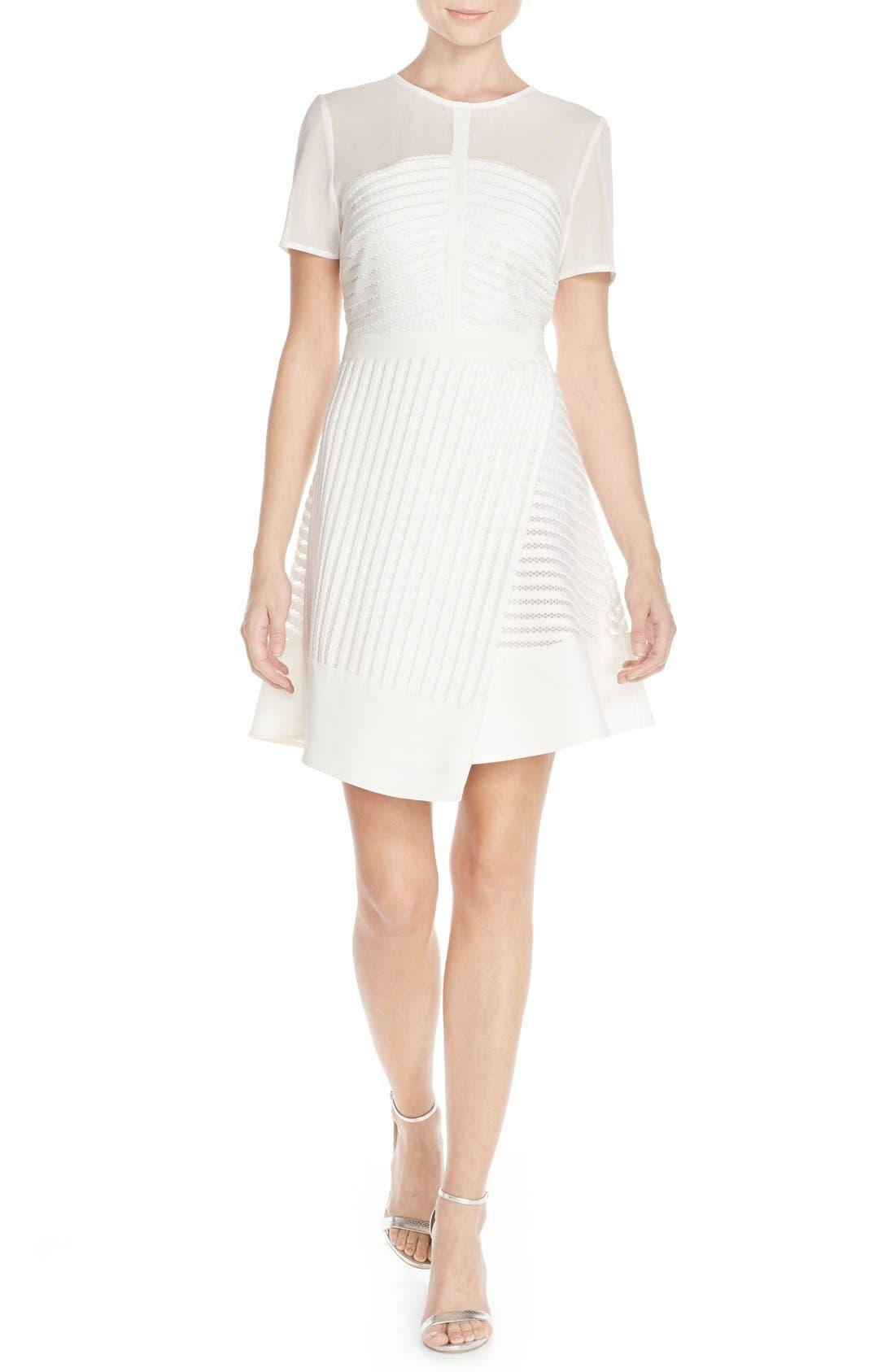 Alternate Image 4  - Adelyn Rae Mixed Media Fit & Flare Dress