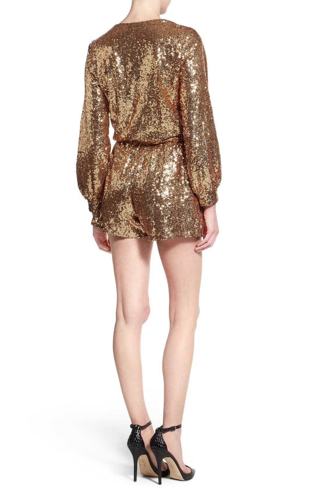 Alternate Image 2  - 4SI3NNA Sequin Romper