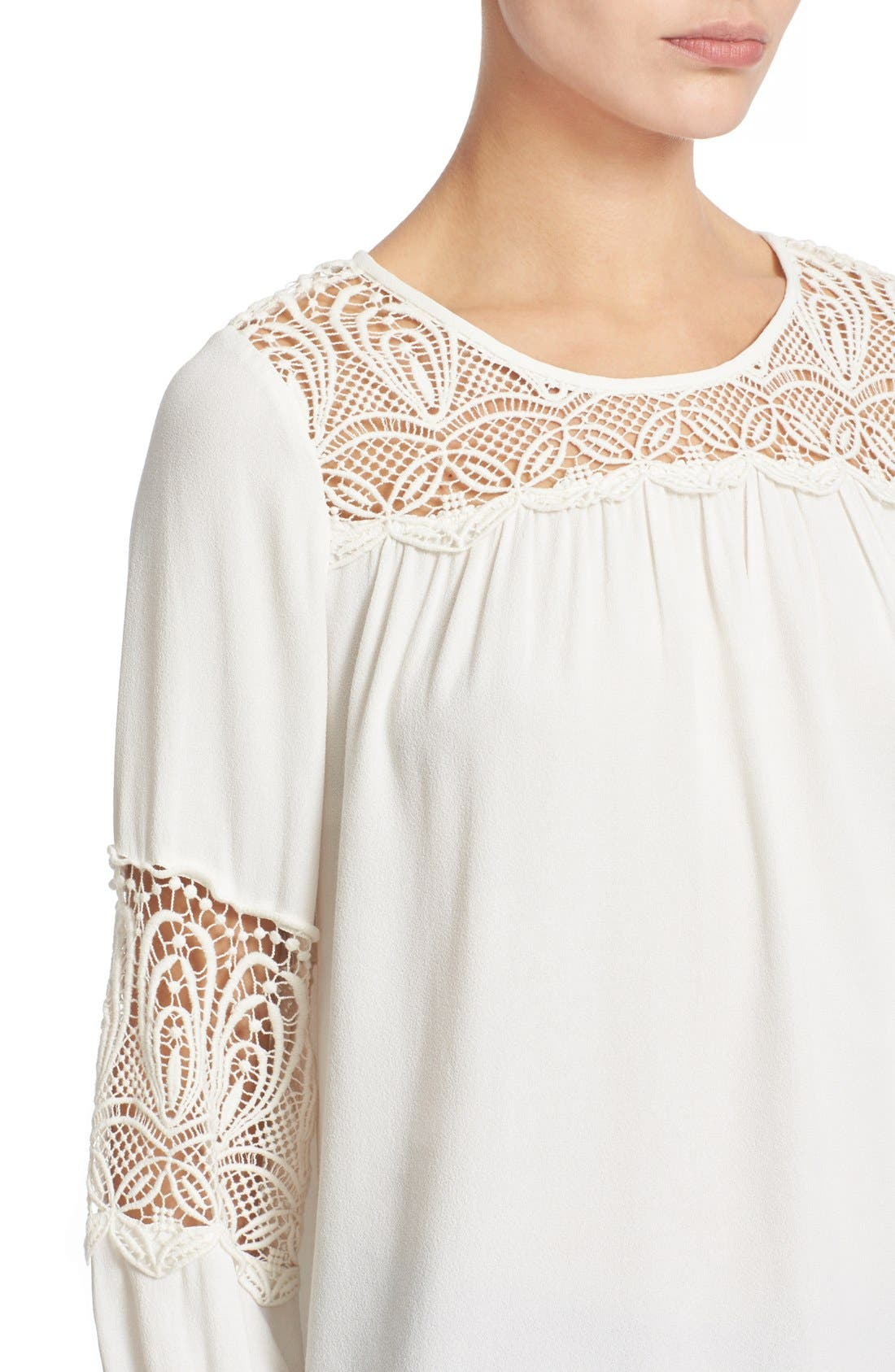 Alternate Image 4  - Joie 'Coastal' Lace Inset Blouse
