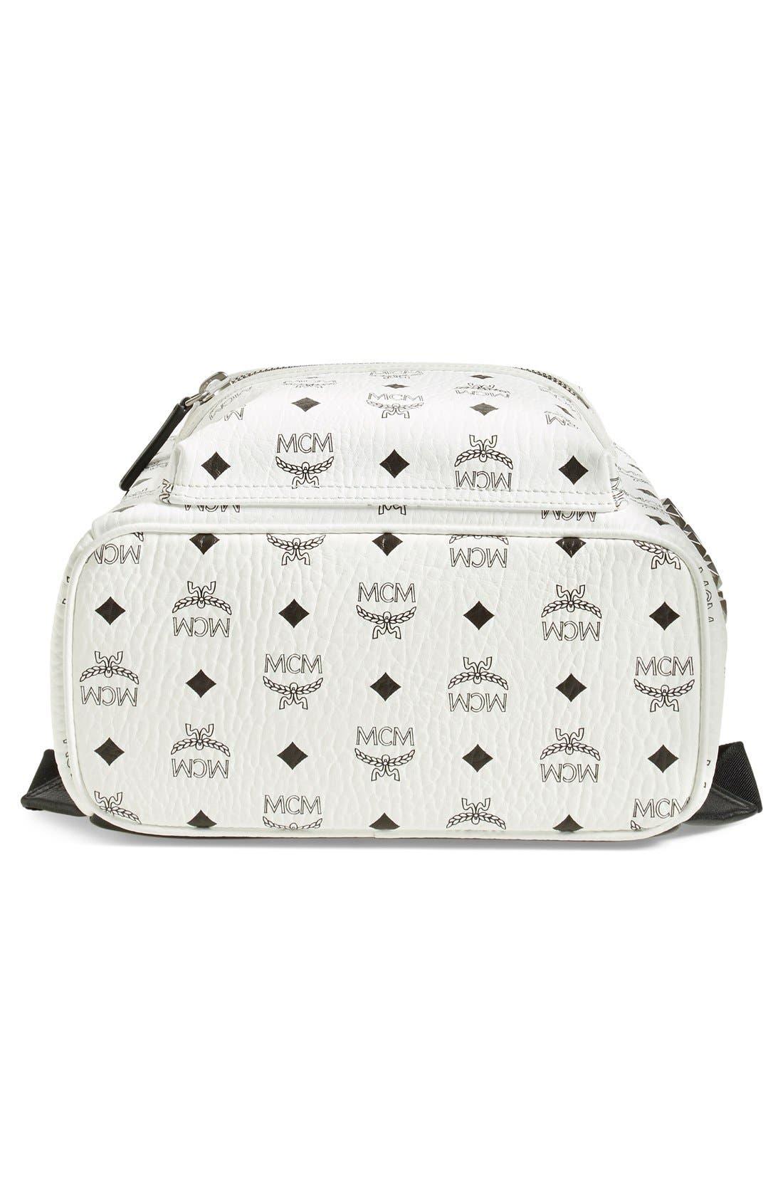 Small Stark Side Stud Backpack,                             Alternate thumbnail 6, color,                             White