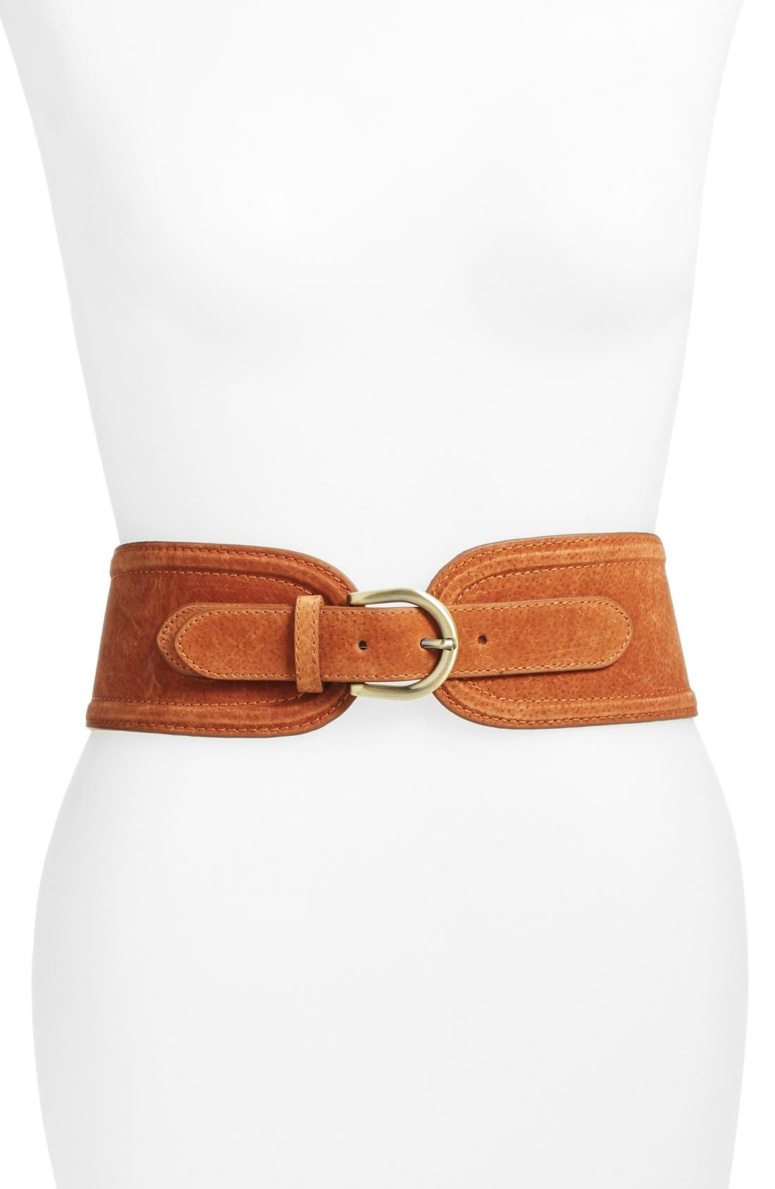Alternate Image 1 Selected - Elise M. 'Vicky' Suede Belt