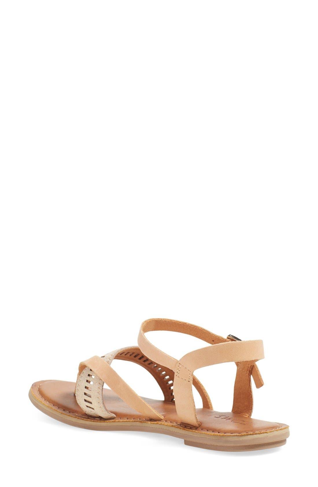 'Lexie' Sandal,                             Alternate thumbnail 2, color,                             Sandstorm Leather
