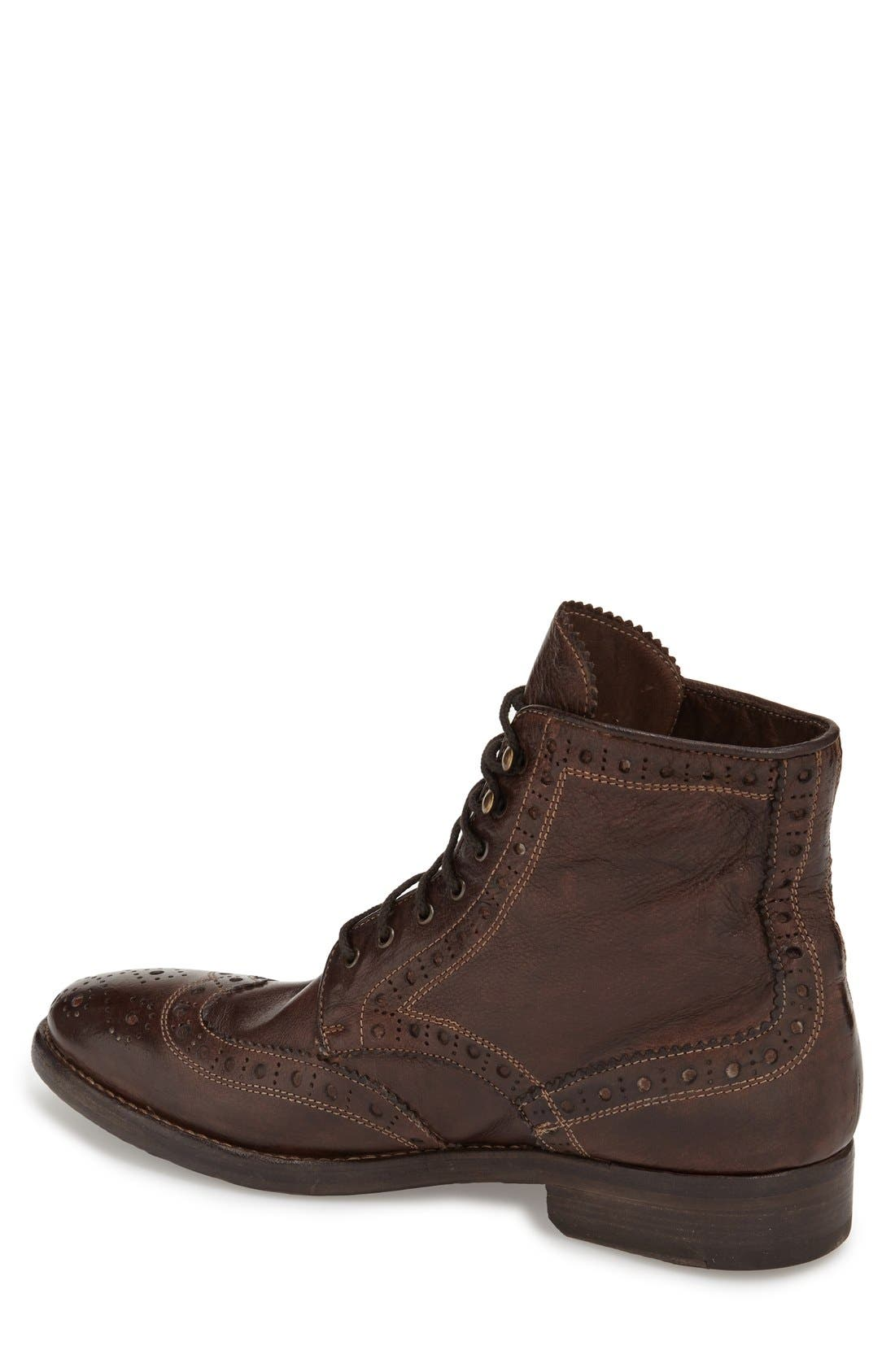 'Brennan' Boot,                             Alternate thumbnail 2, color,                             Chocolate Leather