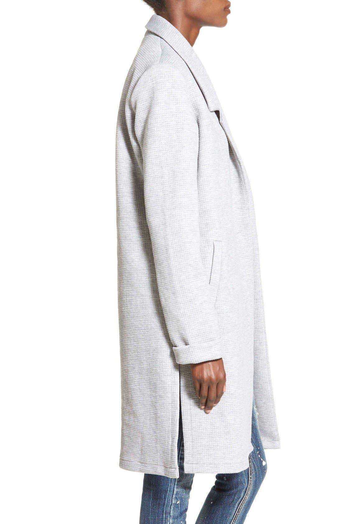 Alternate Image 4  - Glamorous Waffle Knit Midi Jacket (Online Only)