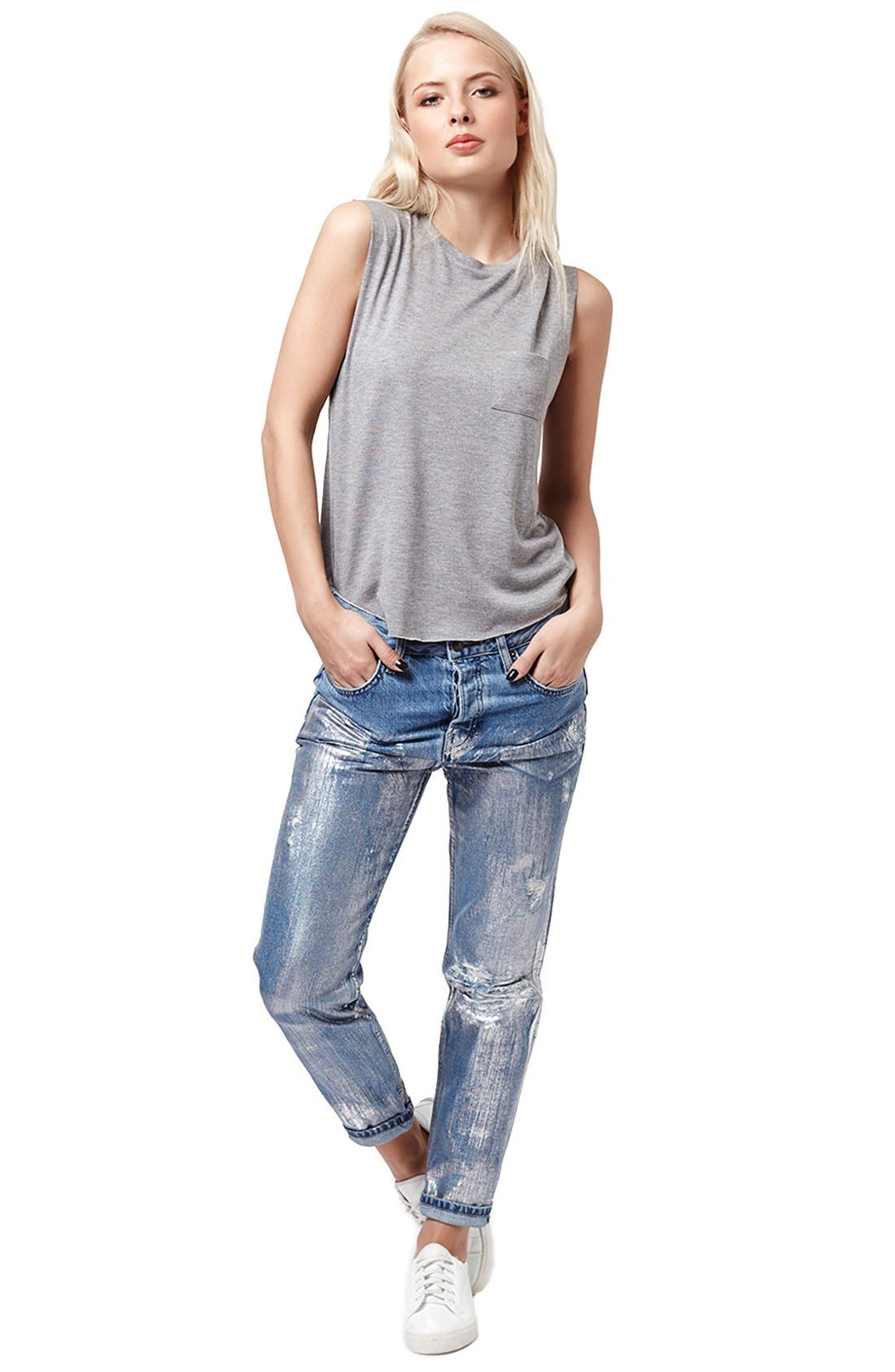 Alternate Image 2  - Topshop Relaxed Fit Pocket Tank