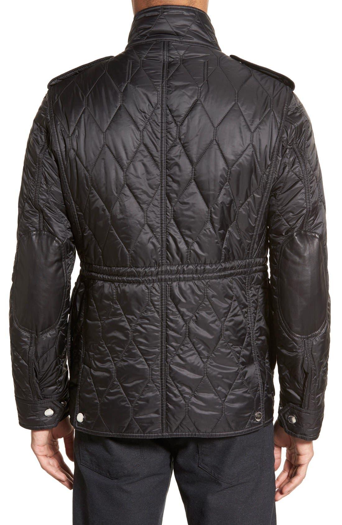 Brit 'Garrington' Quilted Field Jacket,                             Alternate thumbnail 2, color,                             Black
