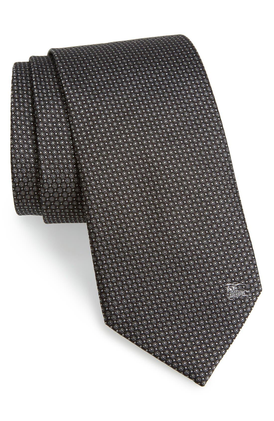 London 'Clinton' Medallion Silk Tie,                         Main,                         color, Black