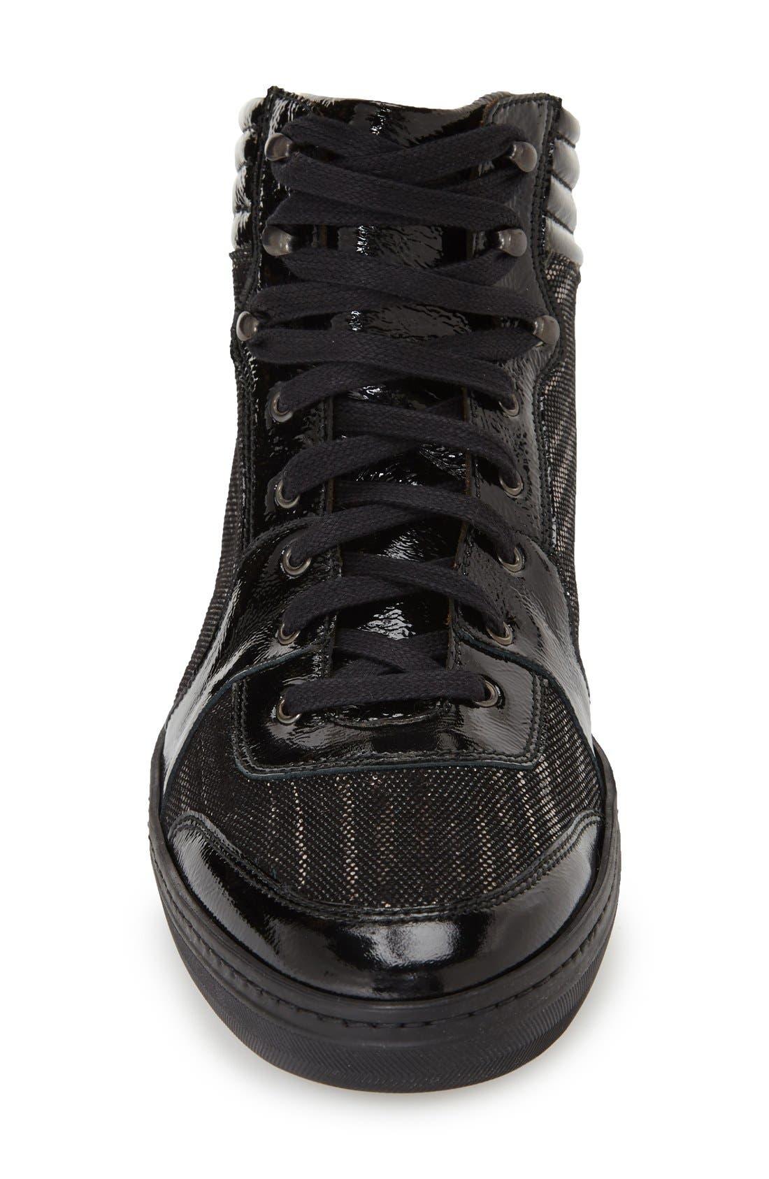 'Bordeau' Sneaker,                             Alternate thumbnail 3, color,                             Black
