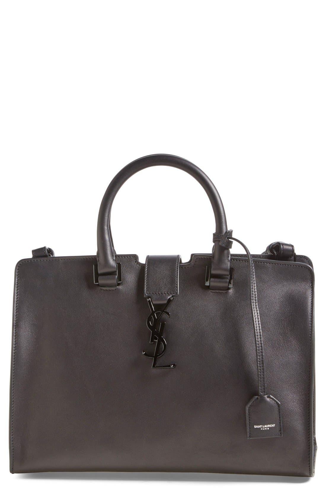 Alternate Image 1 Selected - Saint Laurent 'Small Cabas' Leather Satchel