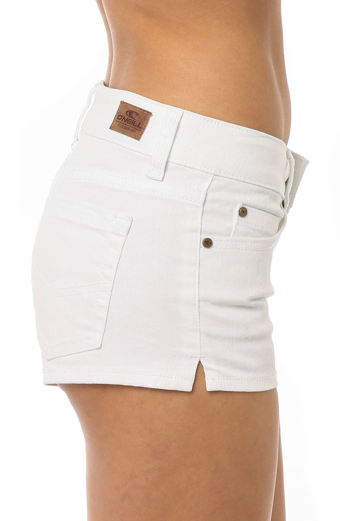 Alternate Image 5  - O'Neill 'Wesley' Denim Shorts (White)