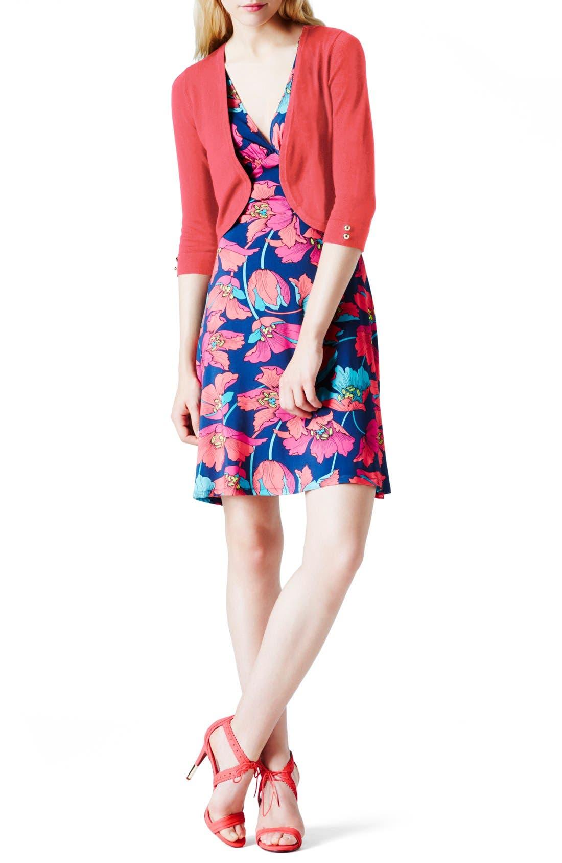 Alternate Image 1 Selected - Leota 'Renee' Open Front Crop Maternity Cardigan